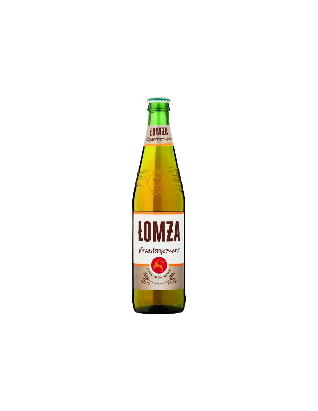 Bere blonda, nepasteurizata Lomza, 6% alc., 0.5L, Polonia