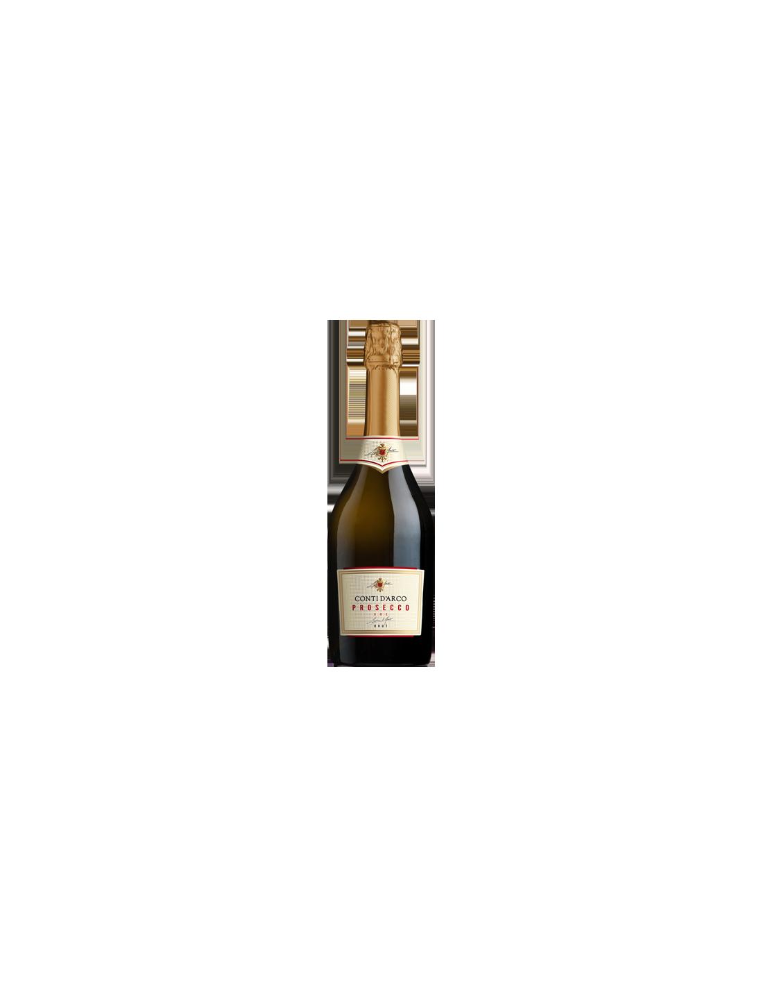 Vin brut prosecco Conti d'Arco, 11% alc., 0.75L, Italia