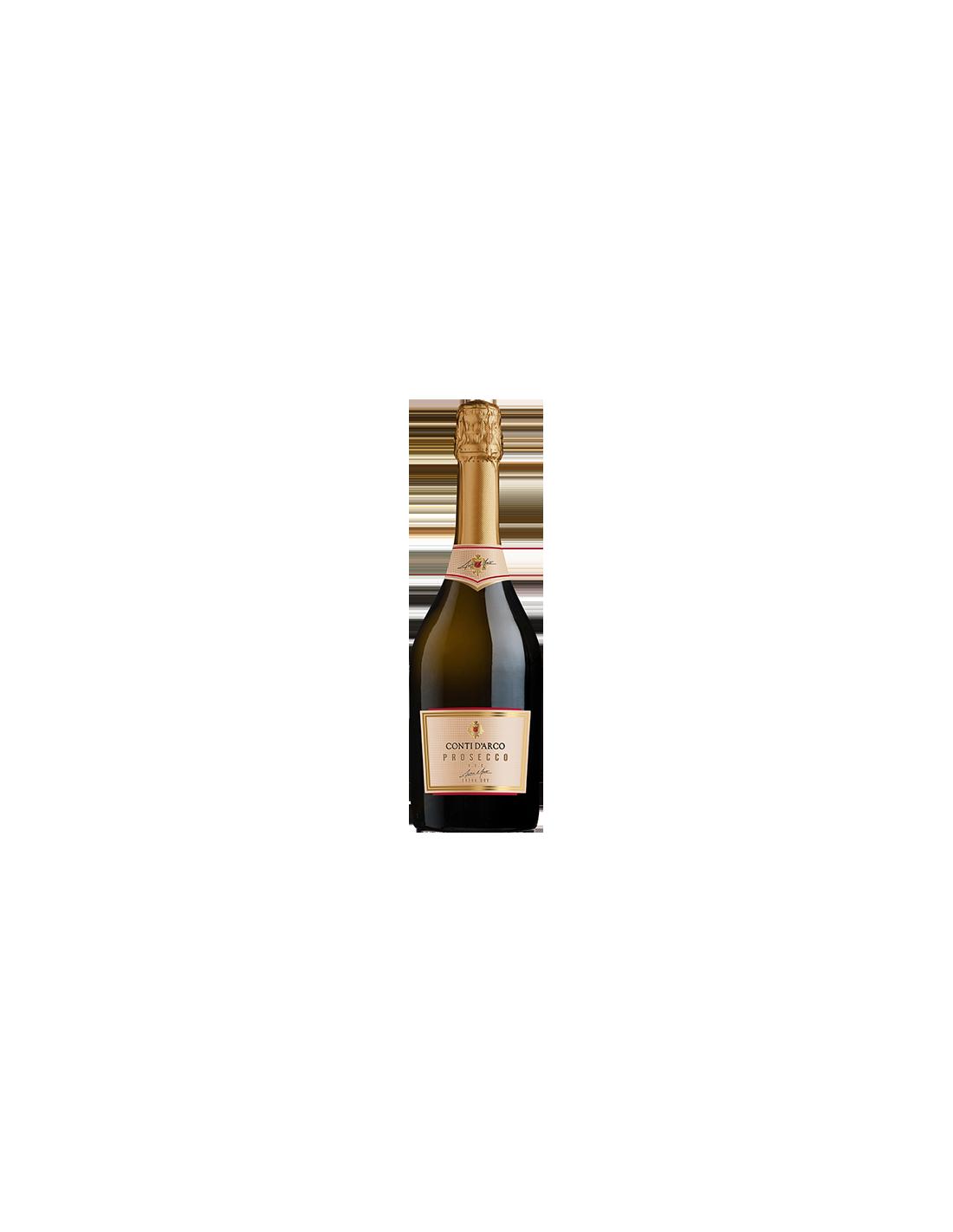 Vin prosecco extra dry Conti d'Arco, 11% alc., 0.75L, Italia