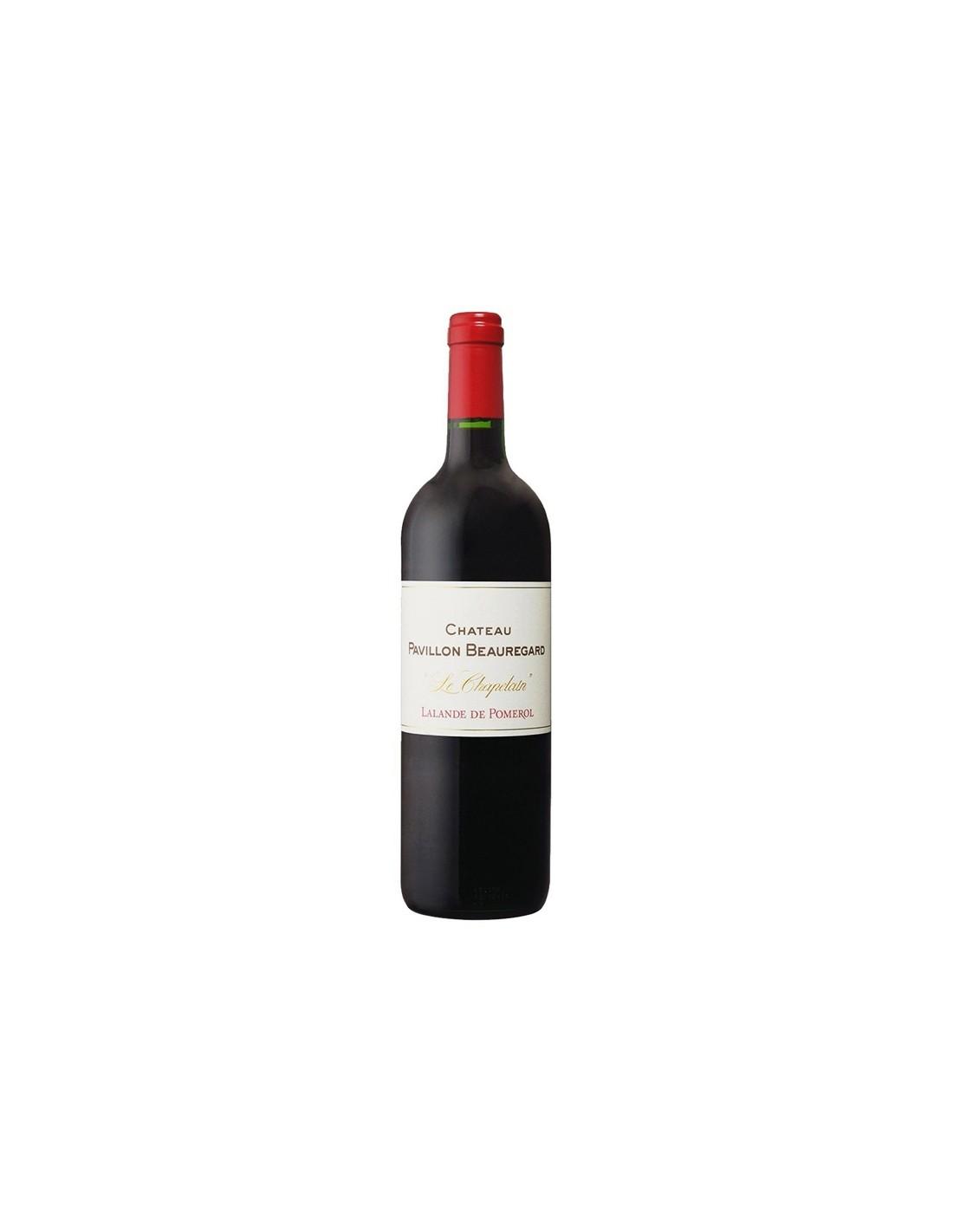 Vin rosu, Cupaj, Château Pavillon Beauregard Lalande-de-Pomerol, 0.75L, Franta