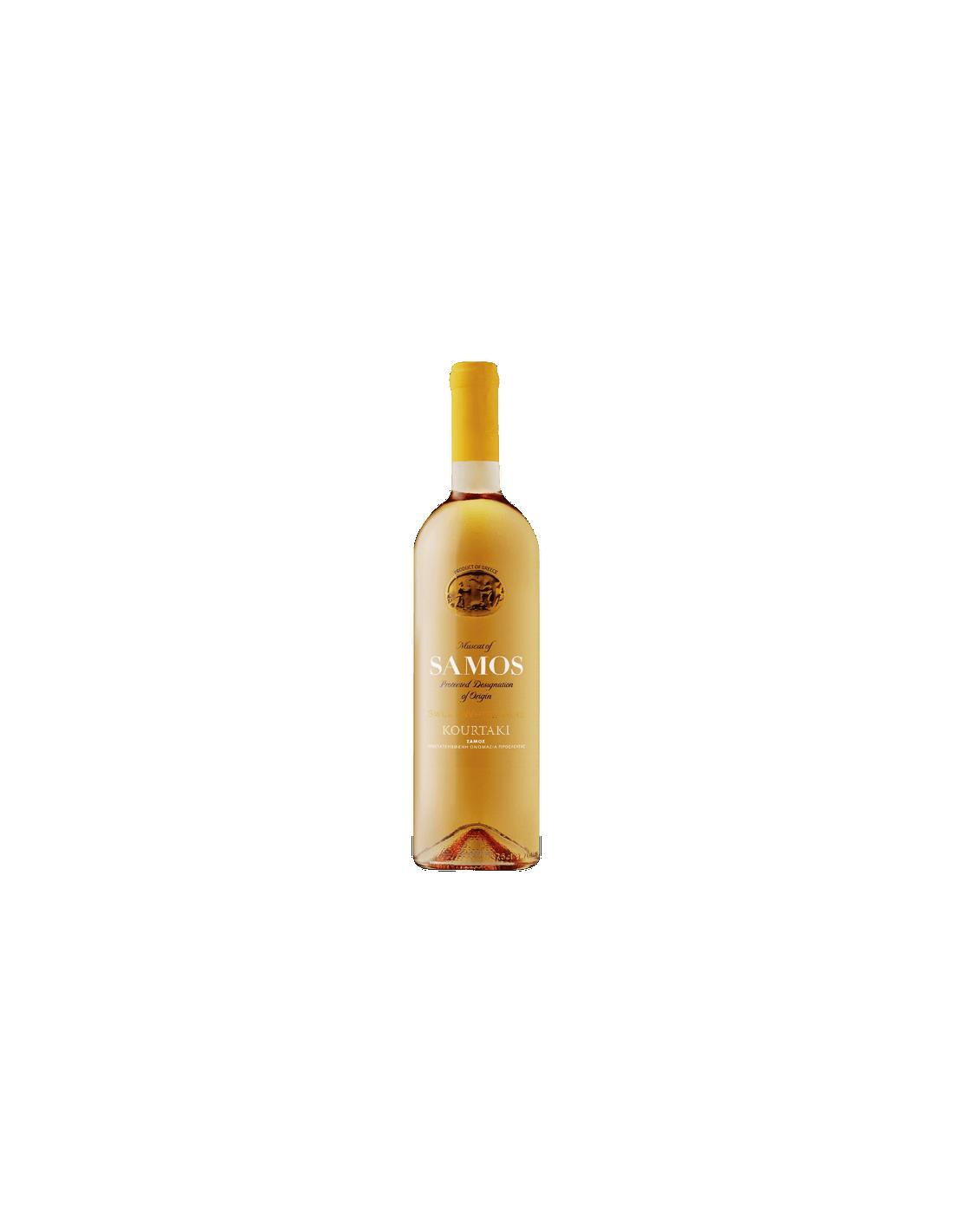 Vin alb dulce, Muscat, Kourtaki Samos, 0.75L, 15% alc., Grecia