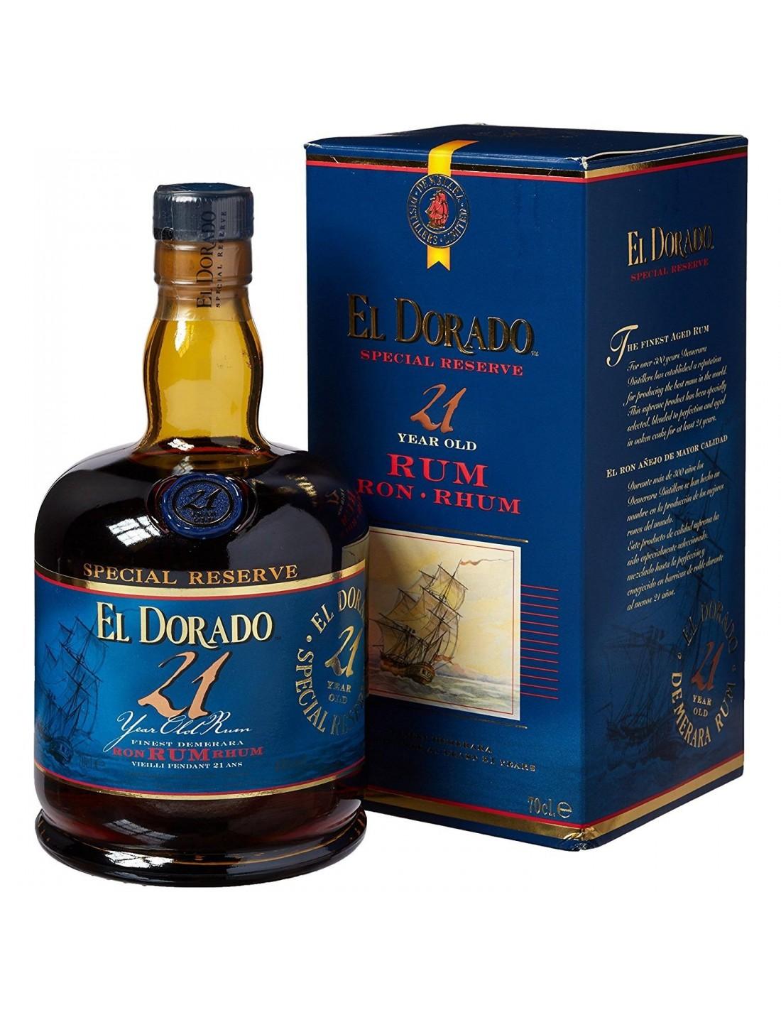 Rom negru El Dorado Special, 21 ani, 0.7 L