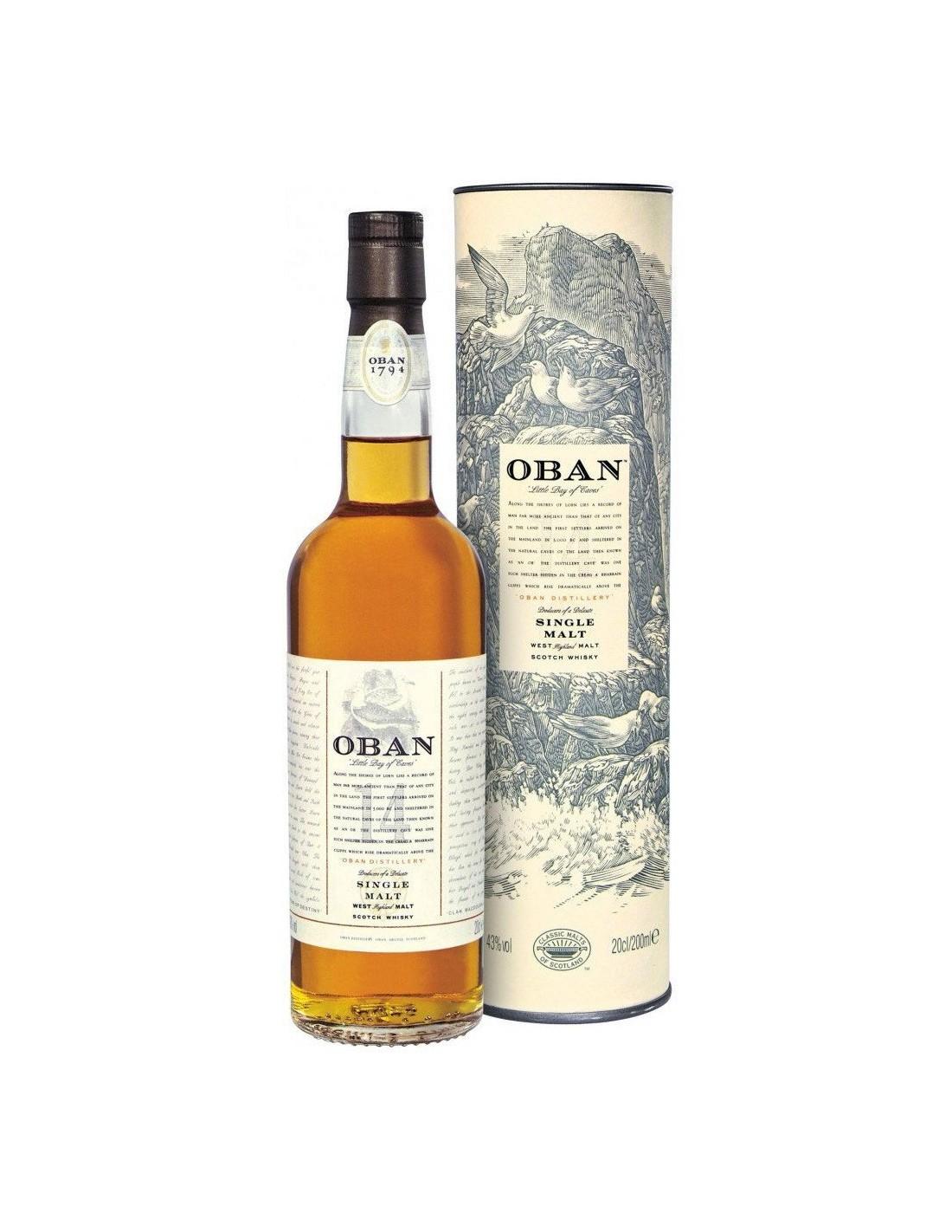 Whisky Oban, 14 ani, 43% alc., 0.7L, Scotia