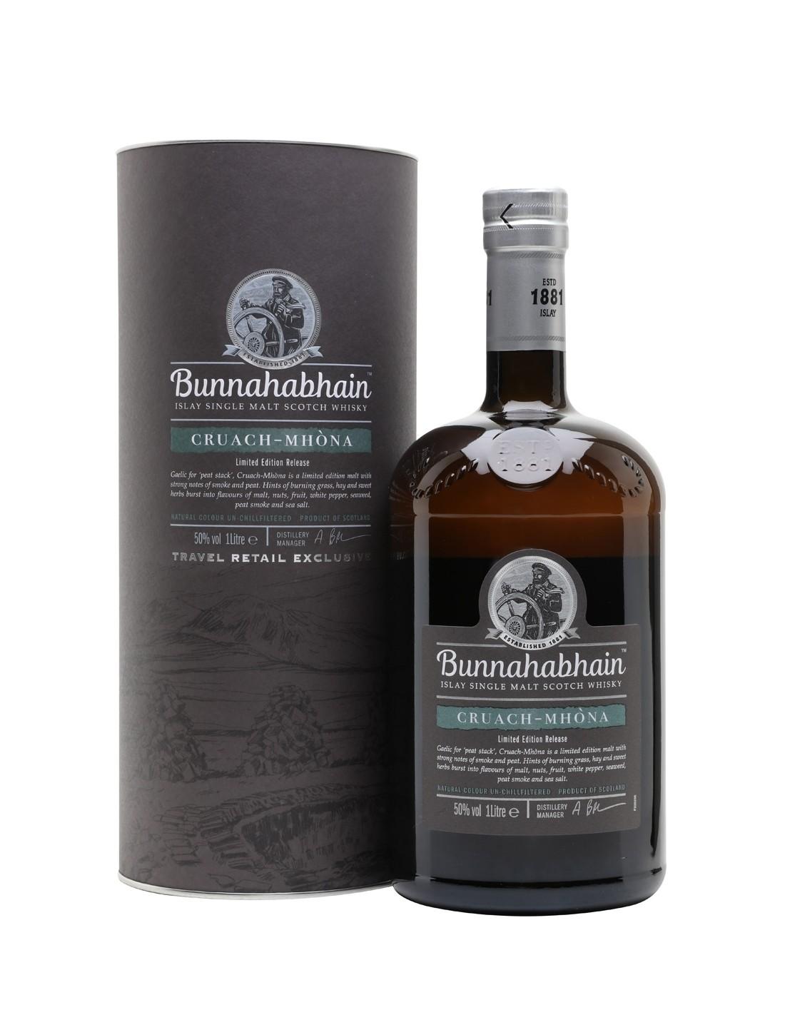 Whisky Bunnahabhain Cruach Mhòna, 50% alc., 1L, Scotia