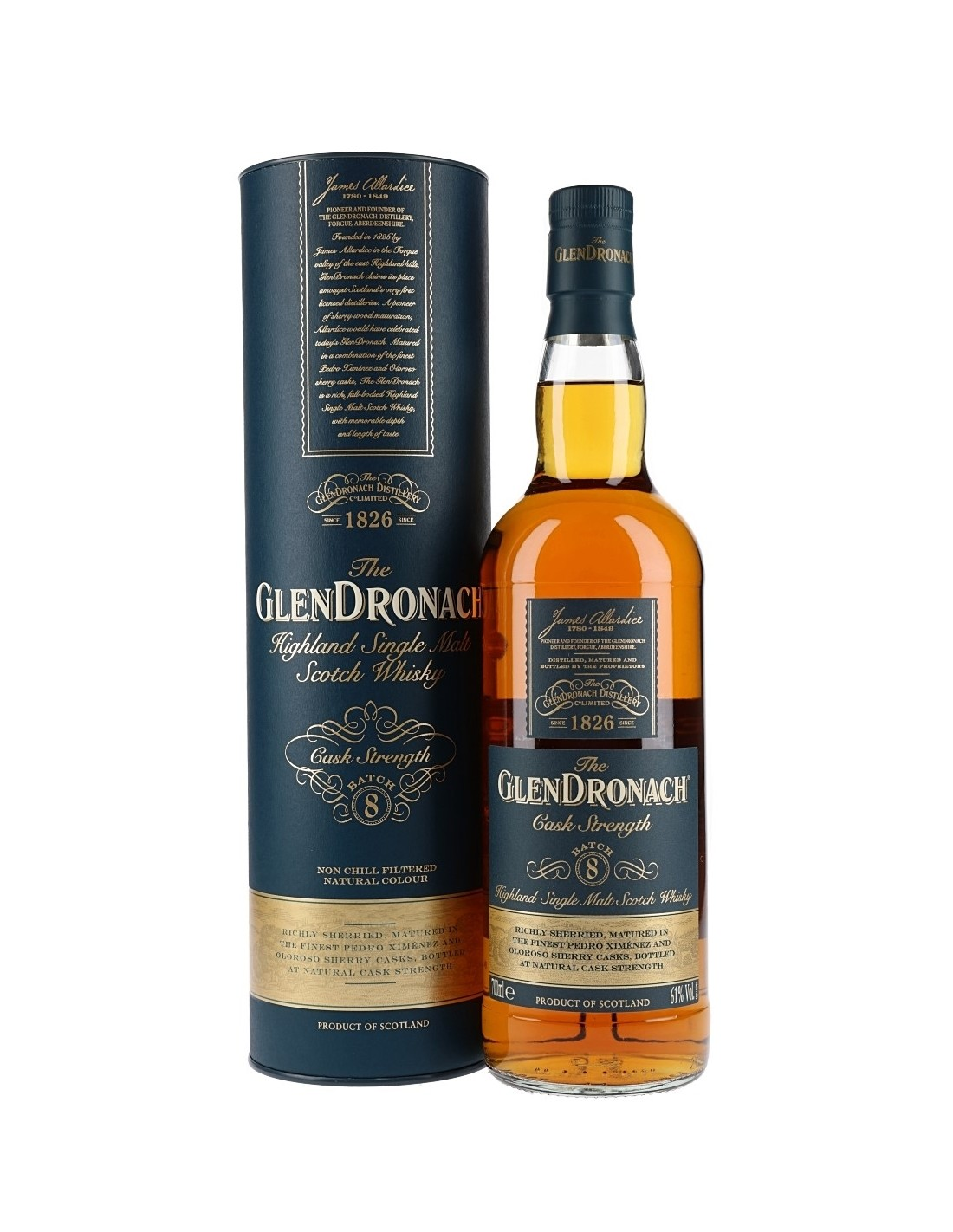 Whisky Single Malt Glendronach Cask Strenght, 61% alc., 0.7L, Scotia