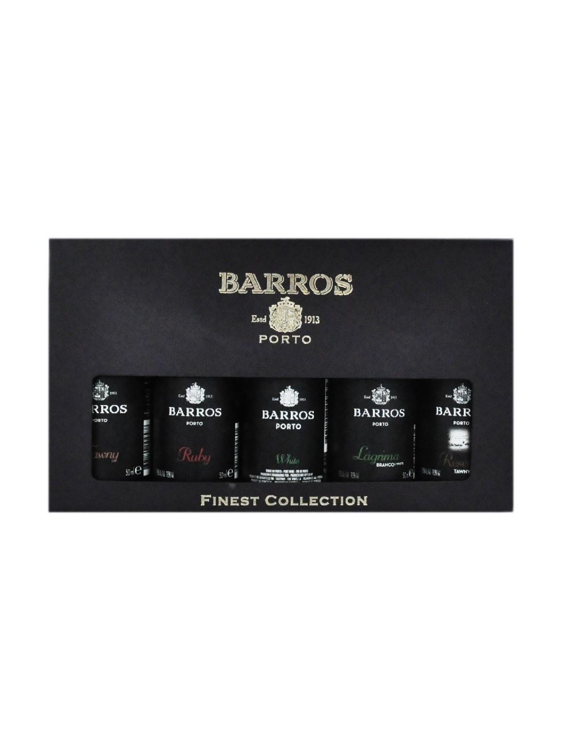 Vin porto Barros, kit 5 miniaturi, 19.5% alc., 0.05L, Portugalia