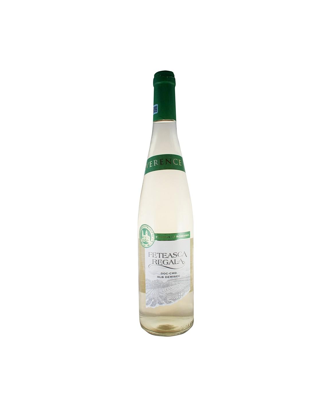Vin alb, Feteasca Regala, Reverence, 13% alc., 0.75L, Romania