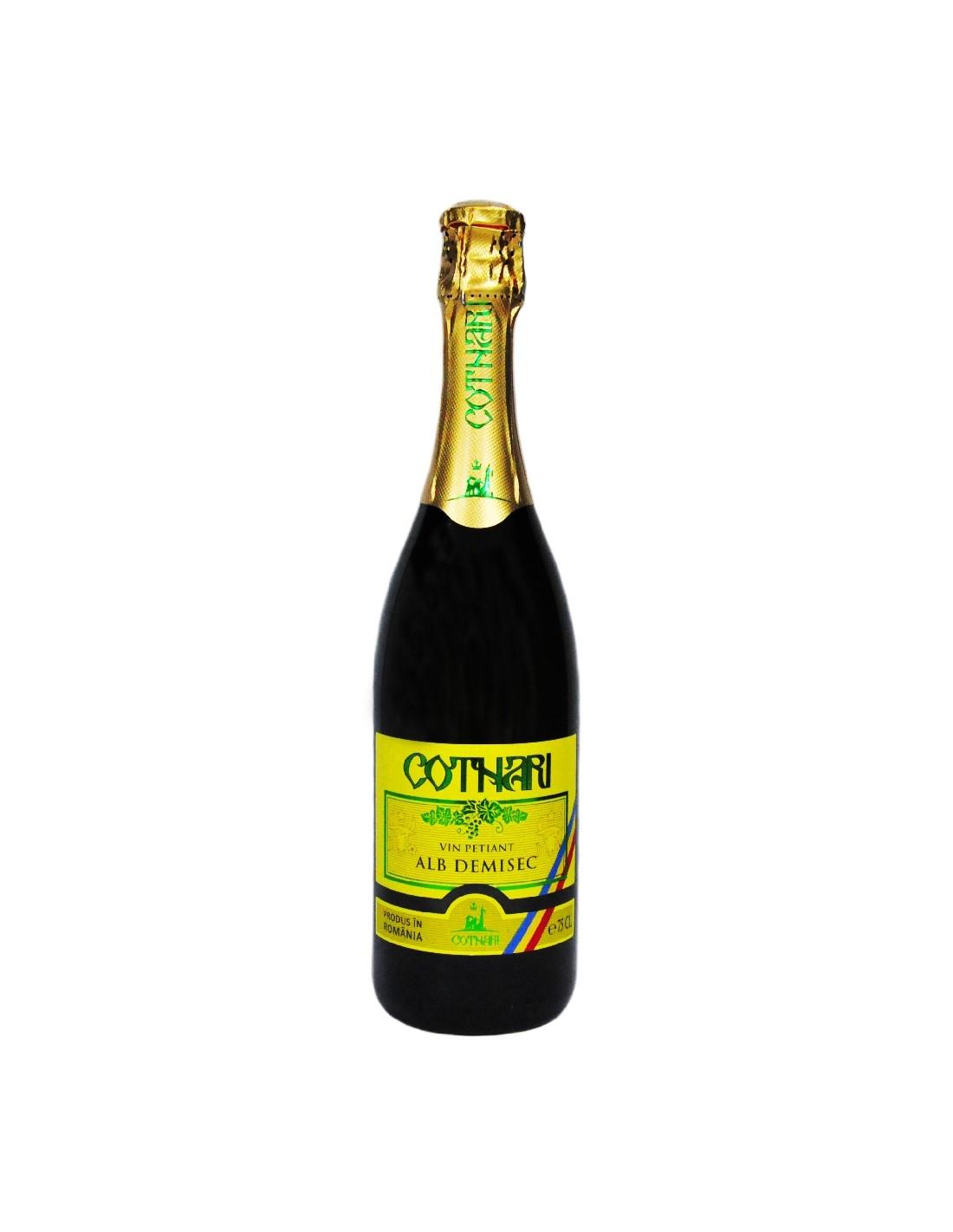 Vin petiant alb demisec Cotnari, 11% alc., 0.75L, Romania