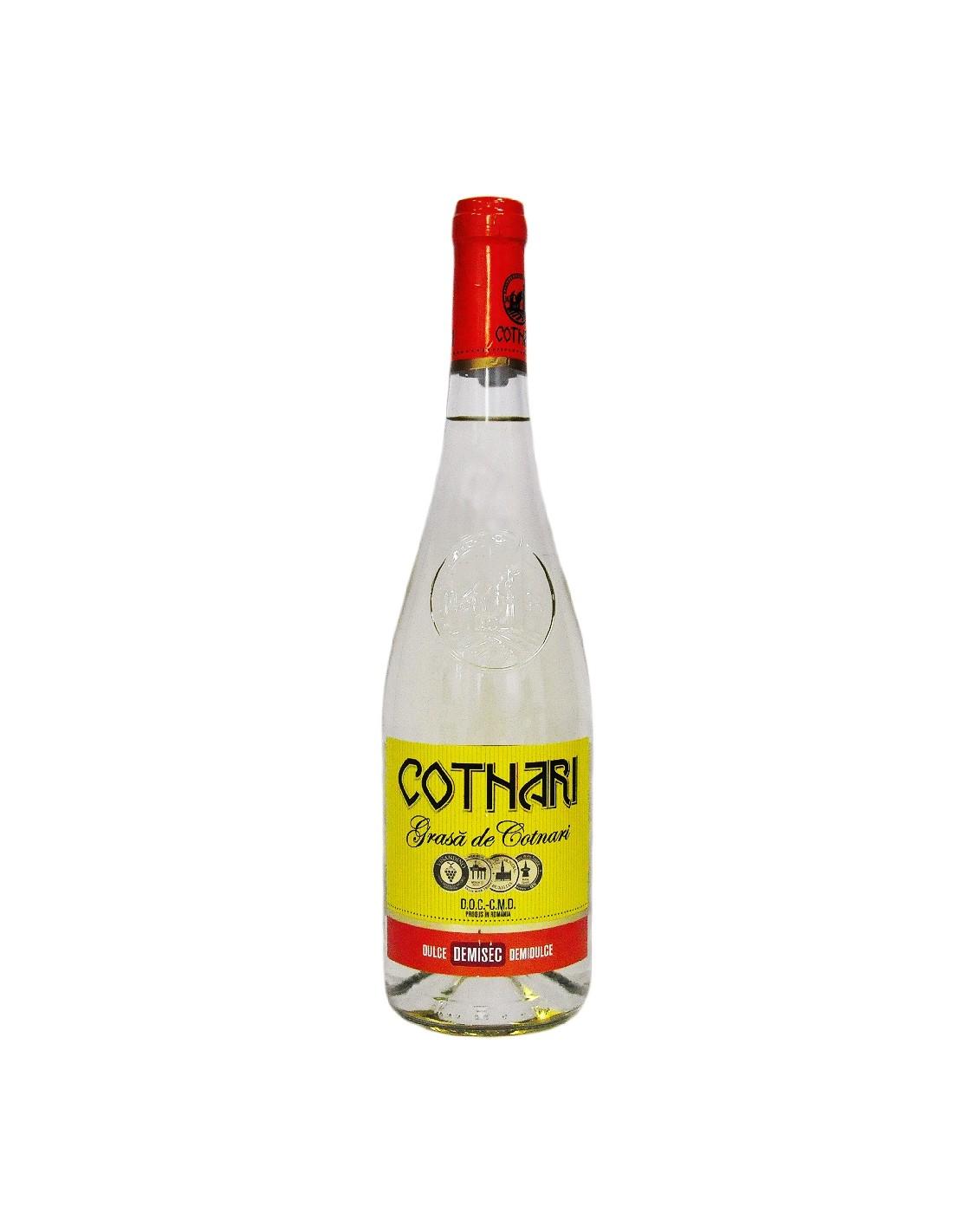 Vin alb demisec Grasa de Cotnari, 13% alc., 0.75L, Romania
