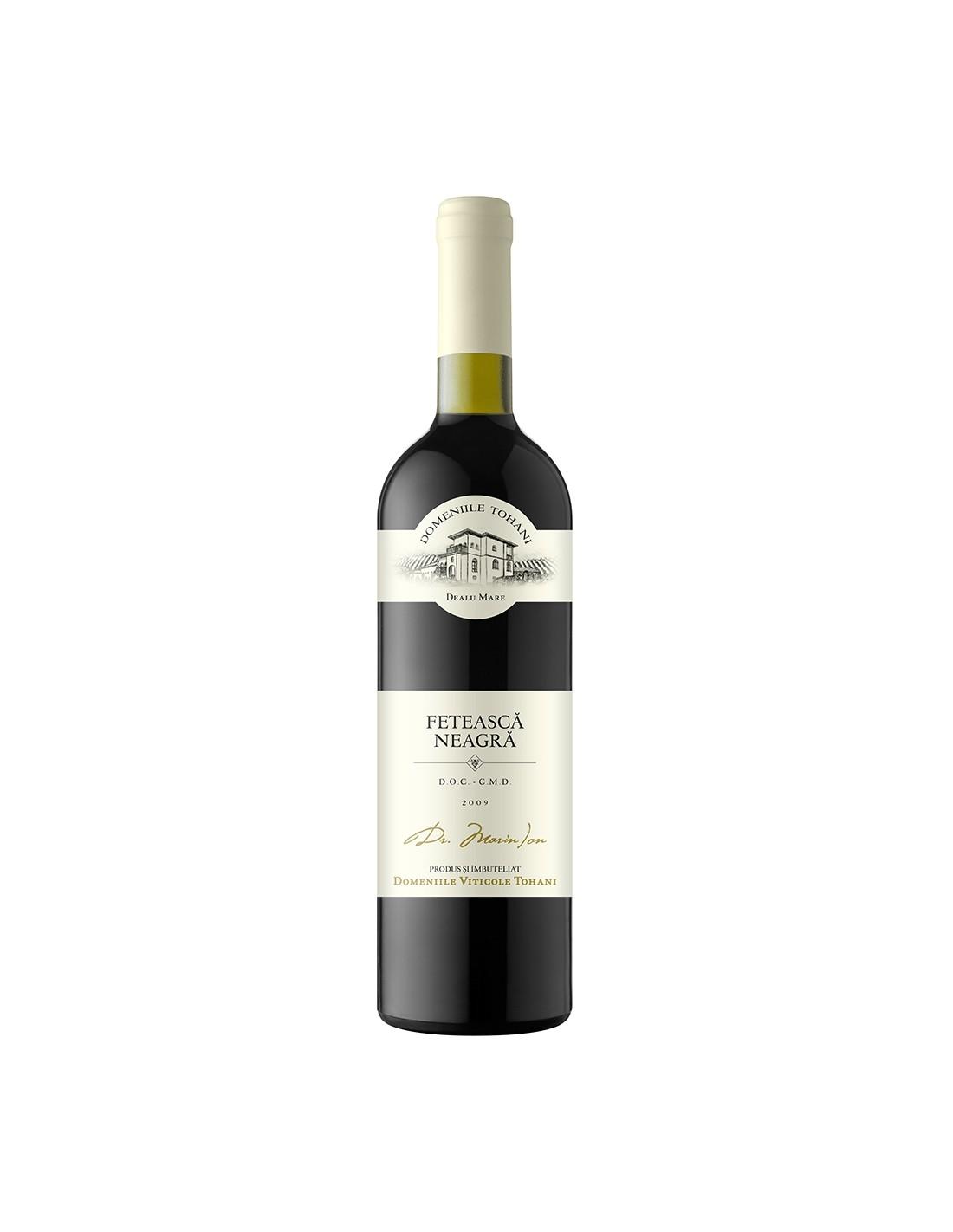 Vin rosu demisec, Feteasca Neagra, Domeniile Tohani Dealu Mare, 0.75L, 12.5% alc., Romania