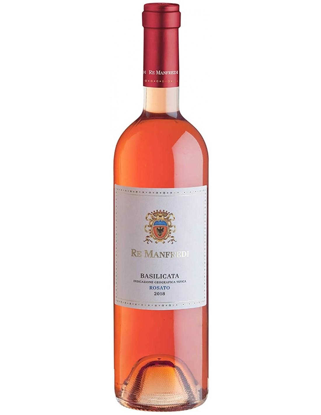 Vin roze Re Manfredi Rosato Basilicata, 12.5% alc., 0.75 L, Italia
