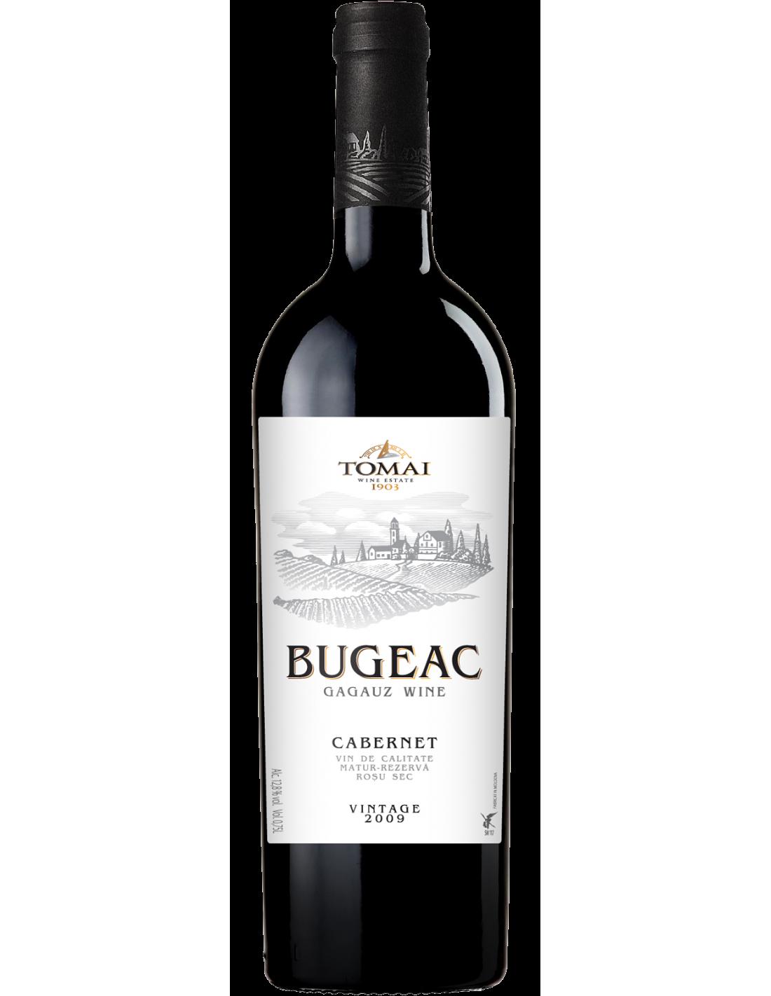 Vin rosu sec, Cabernet, Bugeac, 13% alc., 0.75L, Republica Moldova