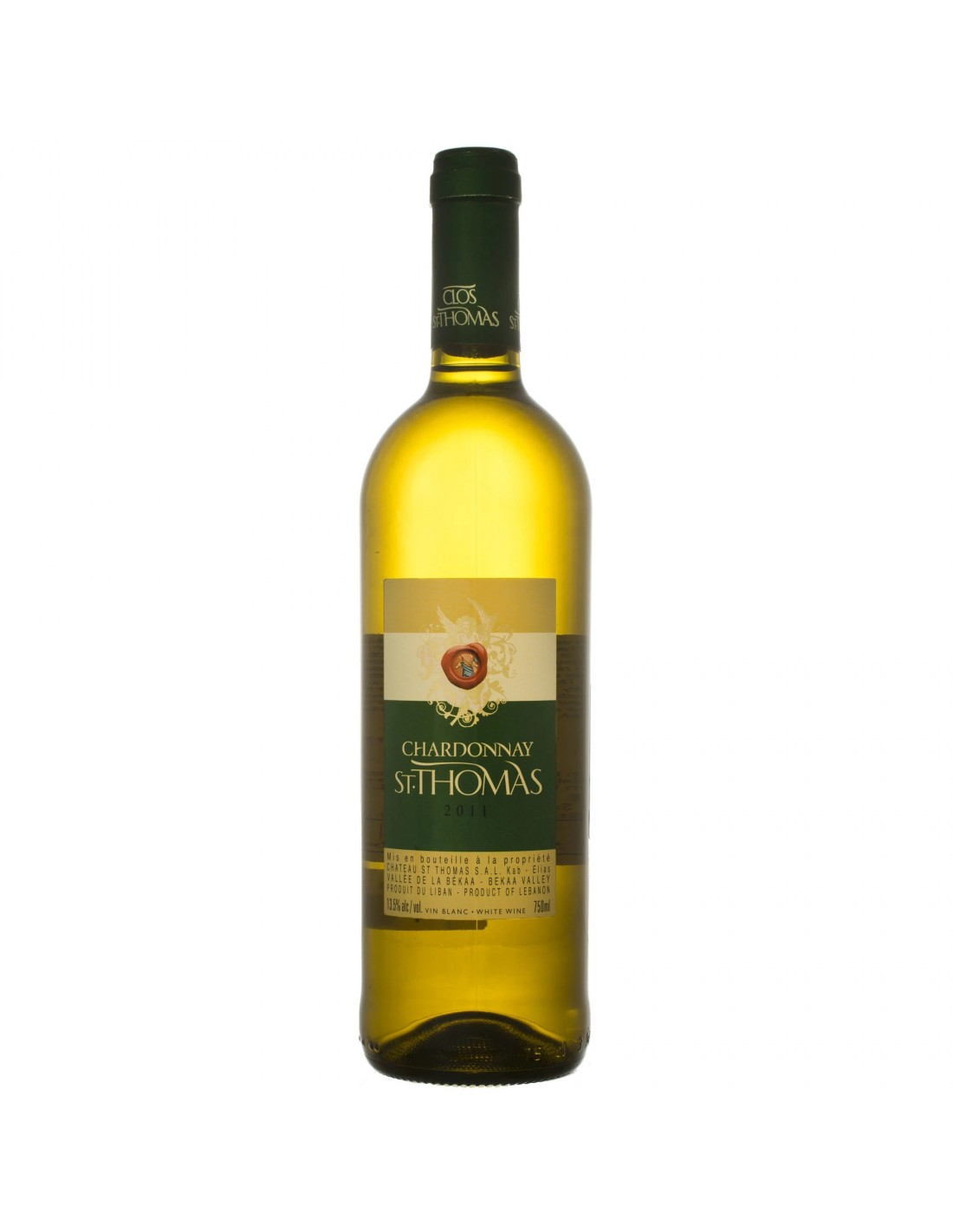Vin alb sec, Chardonnay, St. Thomas, 14.5% alc., 0.75L, Liban