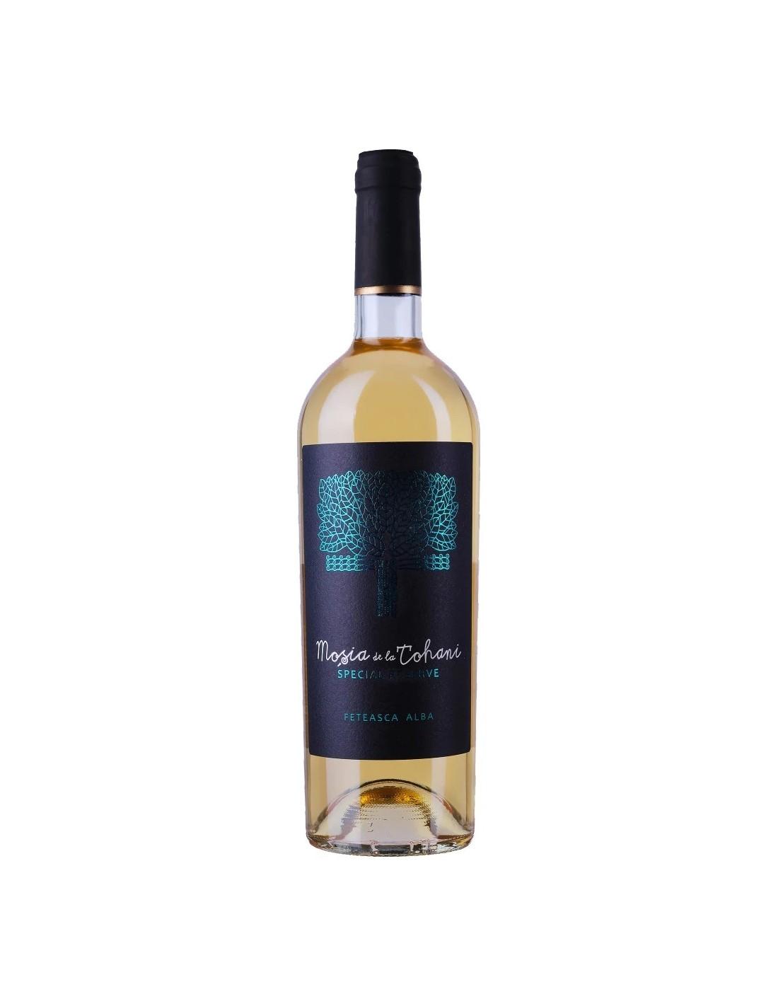 Vin alb demisec, Feteasca Alba, Mosia Tohani Special Reserve, 13.5% alc, 0.75L, Romania
