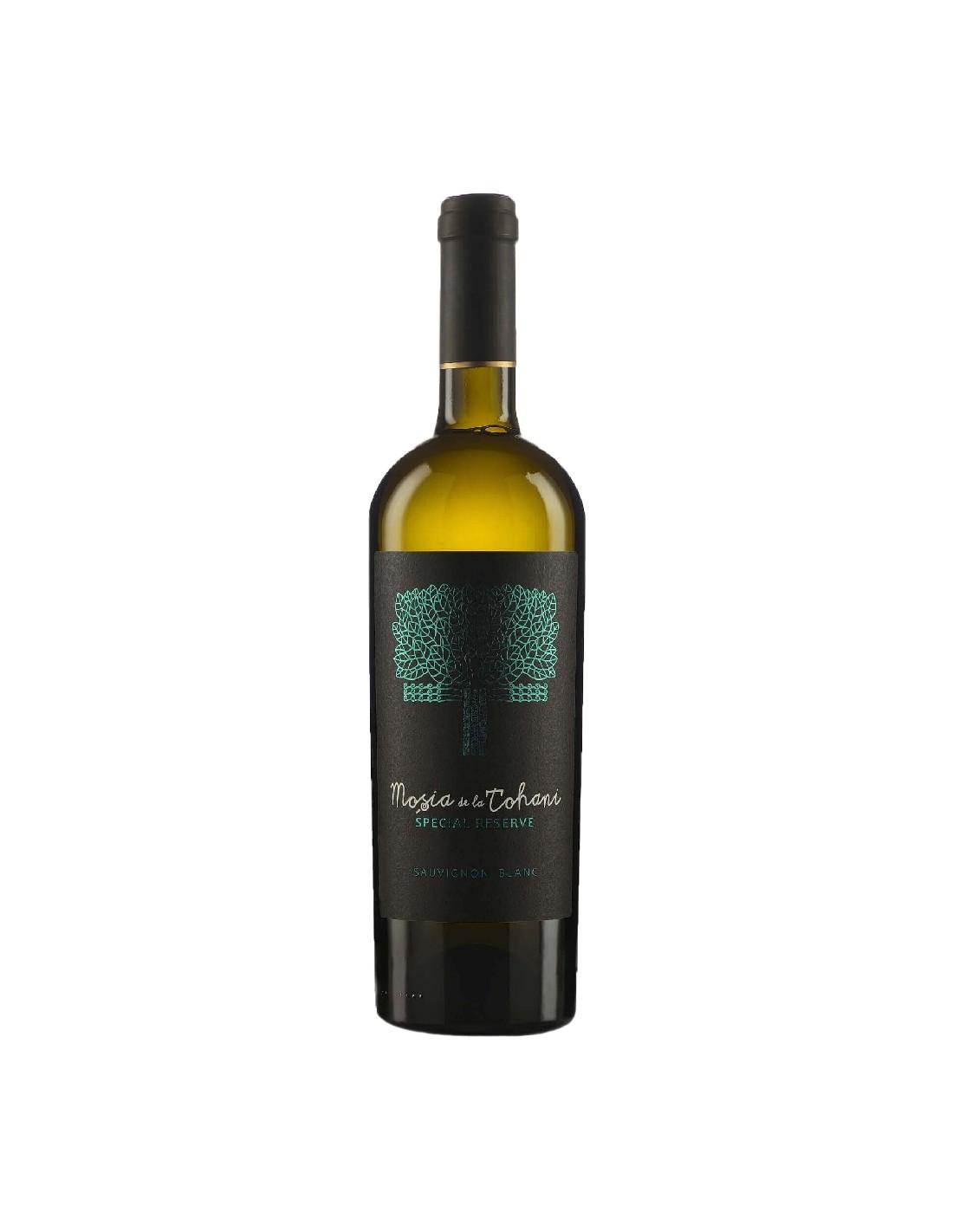 Vin alb sec, Sauvignon Blanc, Mosia Tohani Special Reserve, 13.5% alc, 0.75L, Romania