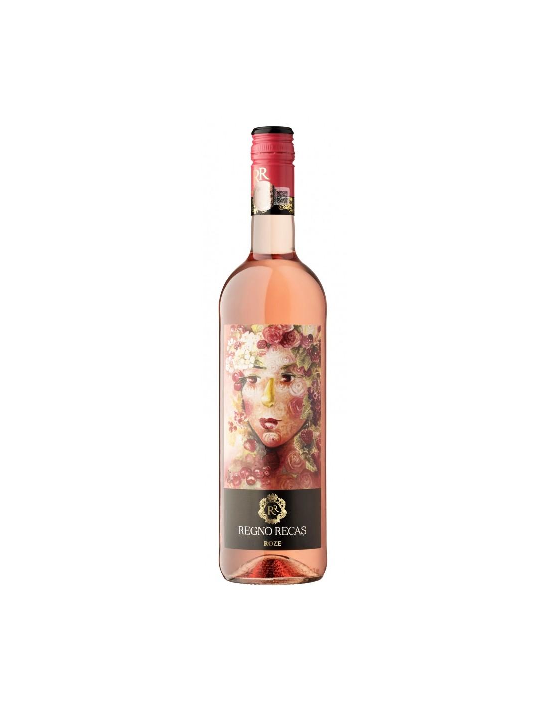 Vin roze demisec, Regno Recas, 12.5% alc.,0.75L, Romania