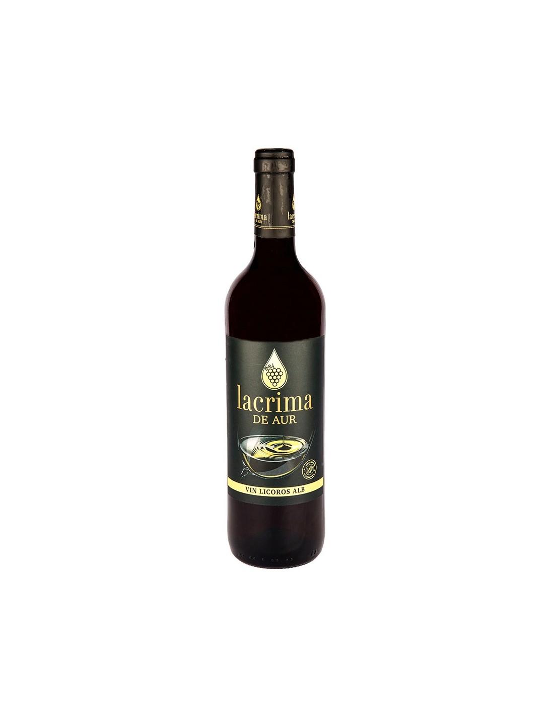 Vin licoros alb Lacrima de Aur, 15% alc., 0.75L, Romania
