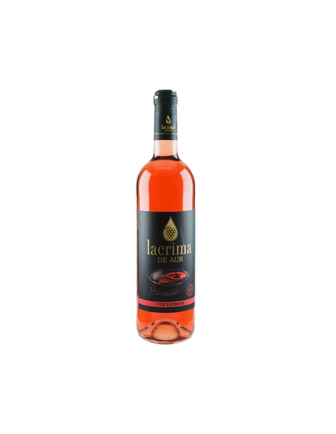 Vin licoros roze Lacrima de Aur, 15% alc., 0.75L, Romania