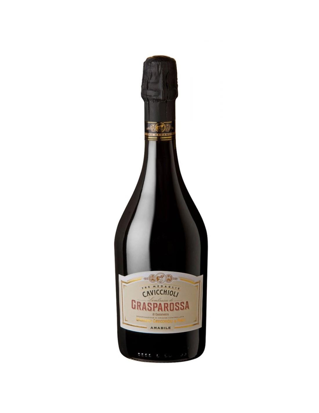 Vin frizzante Cavicchioli Grasparossa Amabile, 8% alc., 0.75L, Italia