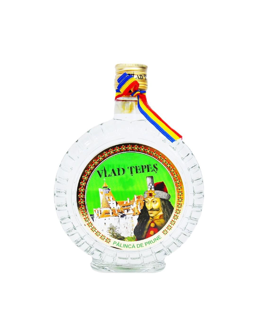 Palinca de prune Vlad Tepes, 40% alc., 0.35L, Romania