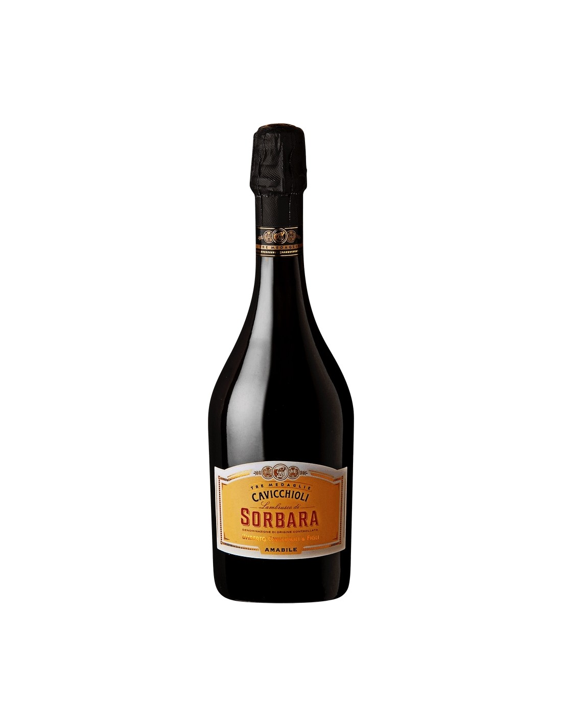 Vin frizzante Cavicchioli Sorbara Amabile, 8% alc., 0.75L, Italia