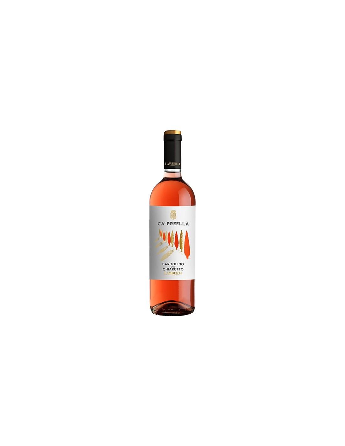 Vin roze, Lamberti Ca Preella Bardolino Chiaretto, 12% alc., 0.75L, Italia
