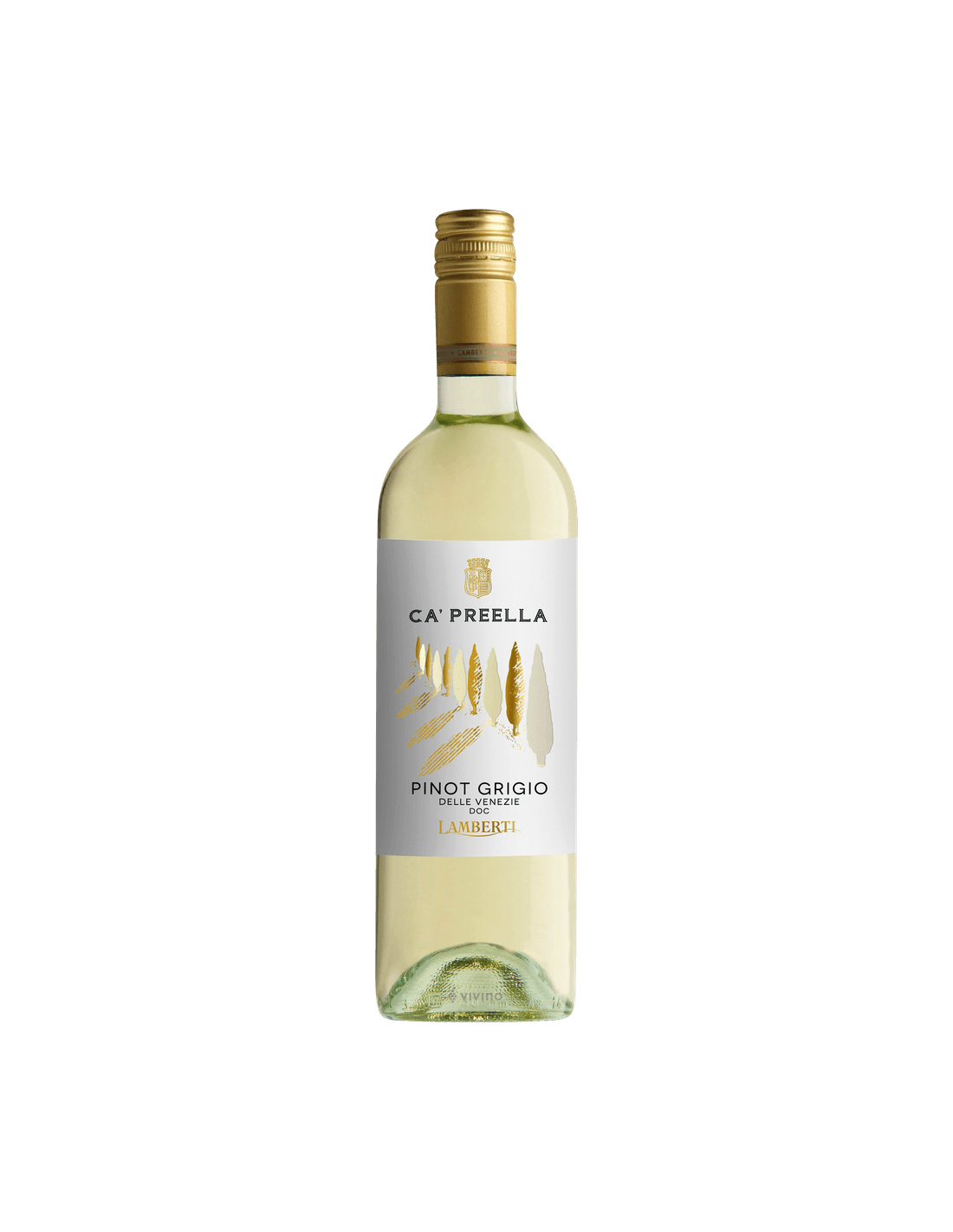 Vin alb, Pinot Grigio, Lamberti Ca' Preella Delle Venezie, 12.5% alc., 0.75L, Italia