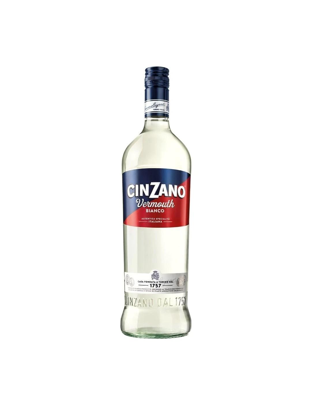 Vermut Cinzano Bianco, 15% alc., 1L, Italia