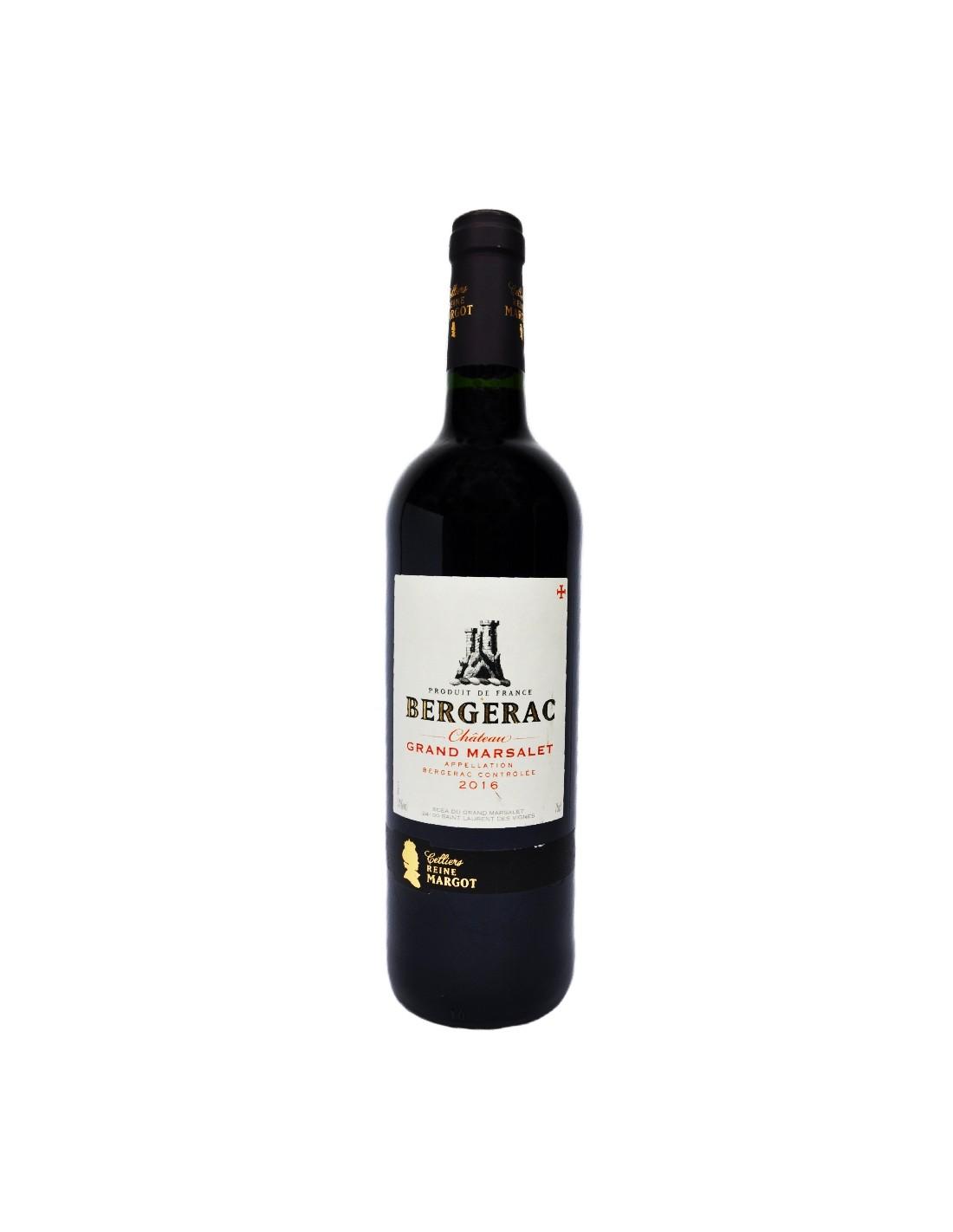 Vin rosu Bergerac Chateau Grand Marsalet, 14% alc., 0.75L, Franta