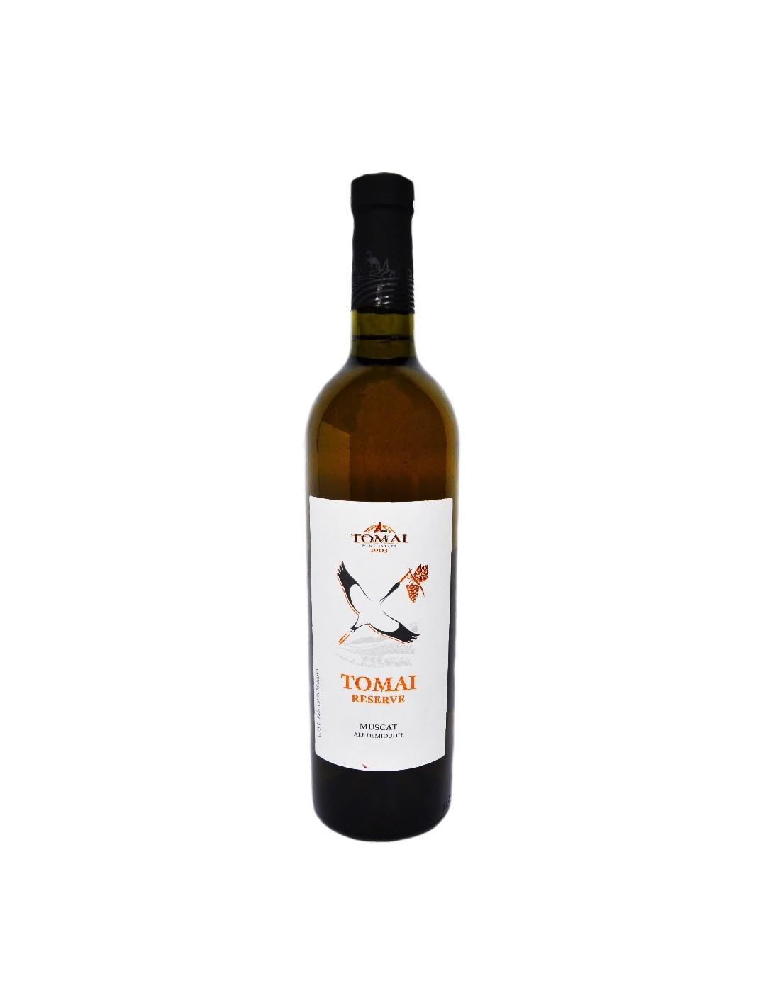 Vin alb demidulce, Muscat, Tomai Reserve, 12% alc., 0.75L, Republica Moldova