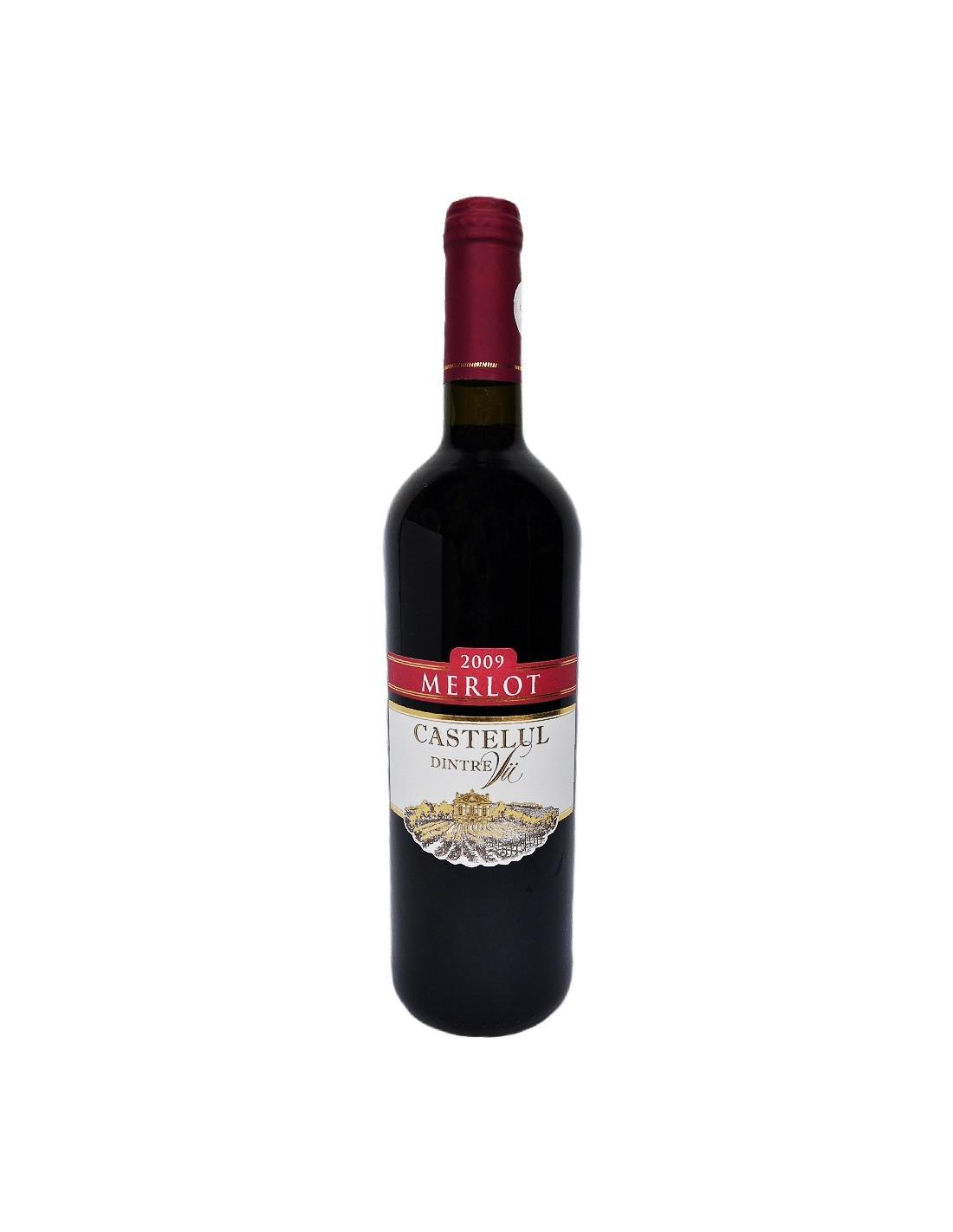 Vin rosu sec, Merlot, Castelul dintre Vii, 0.75L, 11.5% alc., Republica Moldova
