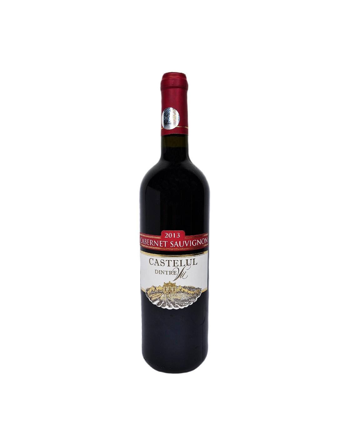 Vin rosu sec, Cabernet Sauvignon, Castelul dintre Vii, 0.75, 11.5% alc., Republica Moldova
