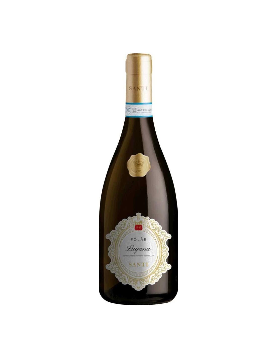 Vin alb, Santi Folar Lugana, 13.5% alc., 0.75L, Italia