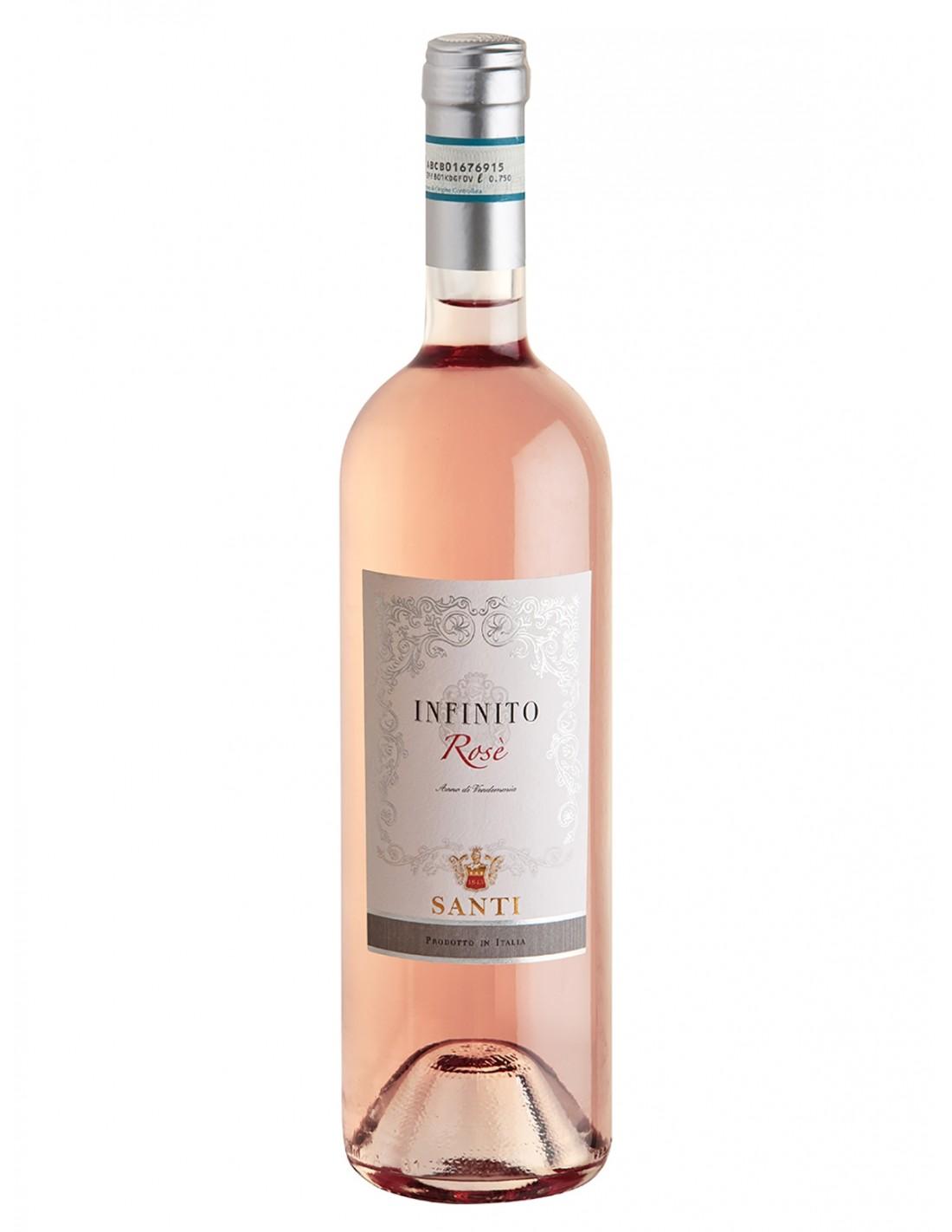 Vin roze, Santi Infinito Bardolino Chiaretto, 12% alc., 0.75L, Italia