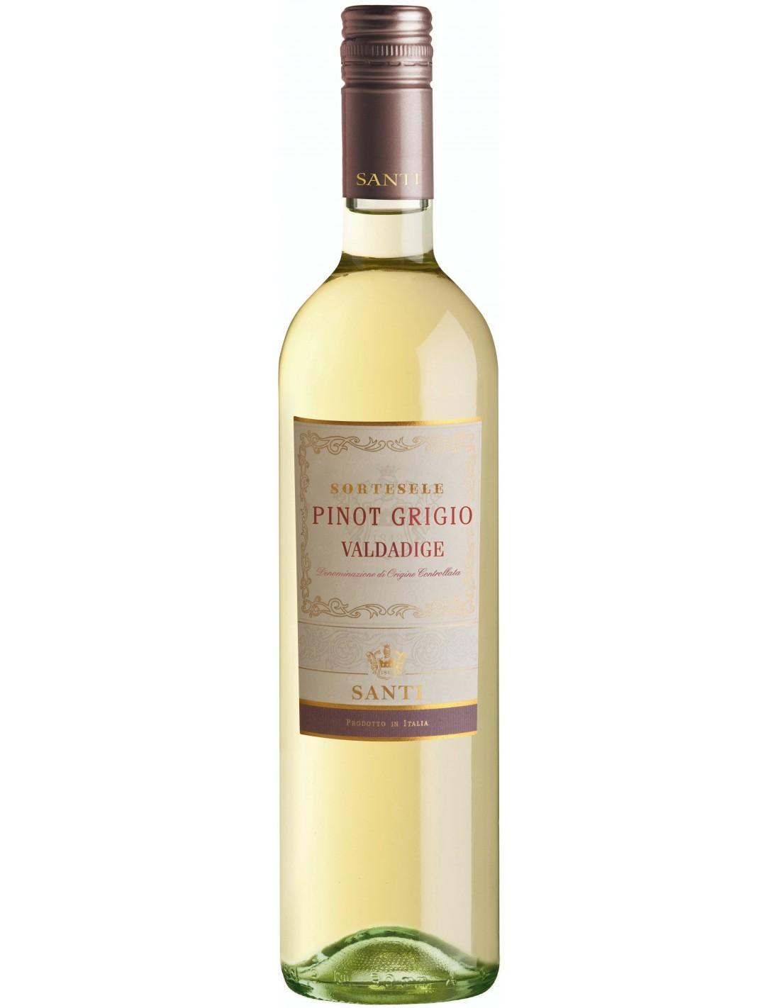 Vin alb, Pinot Grigio, Santi Sortesele Valdadige, 12.5% alc., 0.75L, Italia