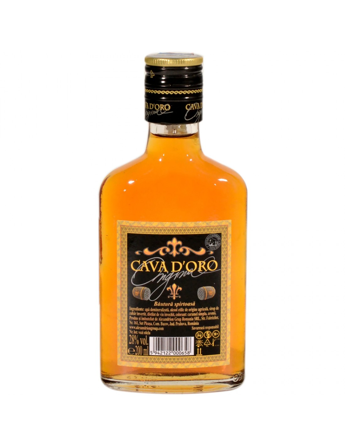 Brandy Cava Doro, 28% alc., 0.2L