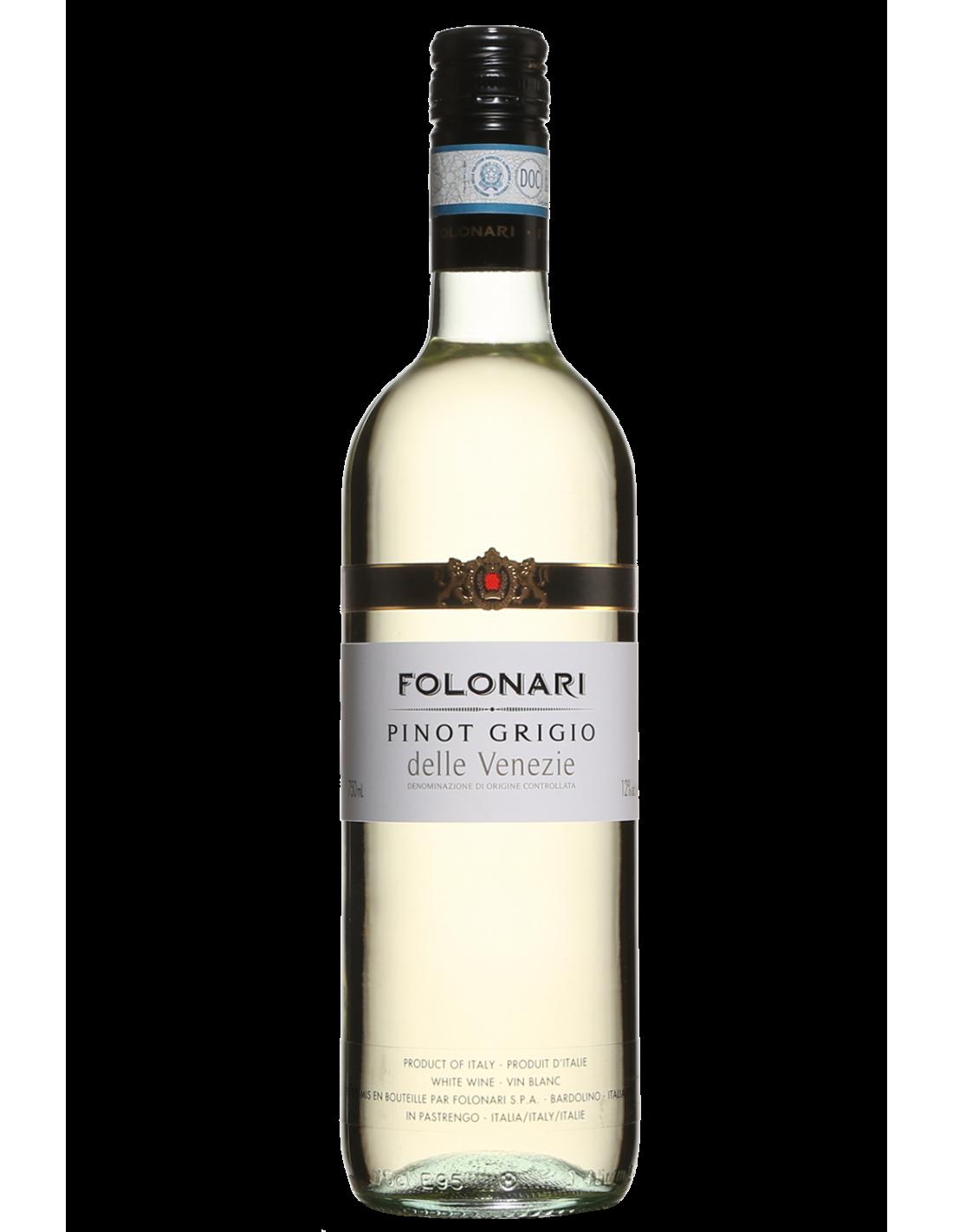 Vin alb, Pinot Grigio, Folonari delle Venezie, 12% alc., 0.75L, Italia