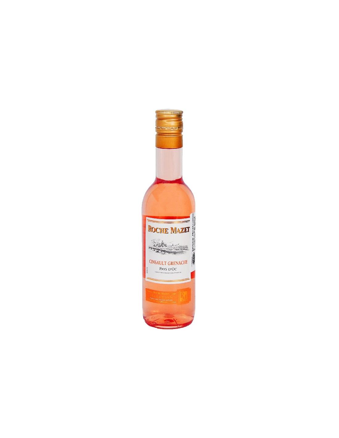 Vin roze, Cinsault Grenache, Roche Mazet Pays dOc, 0.187L, 12% alc., Franta