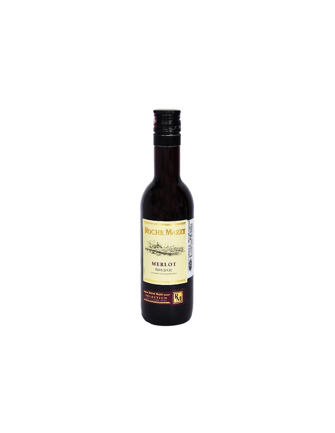 Vin rosu, Merlot, Roche Mazet Pays dOc, 12.5% alc., 0.187L, Franta