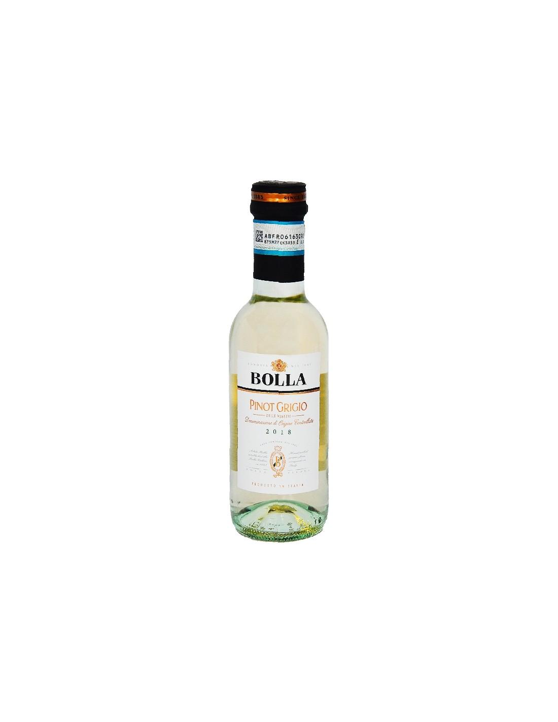 Vin alb, Pinot Grigio, Bolla delle Venezie, 0.187L, 12.5% alc., Italia