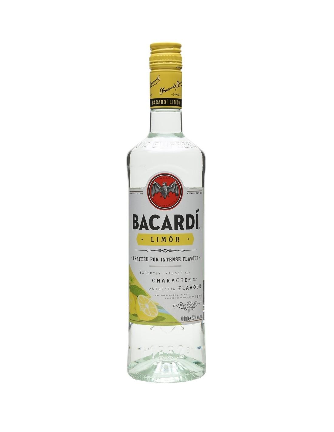 Rom alb Bacardi Limon, 0.7L, 32% alc., Cuba