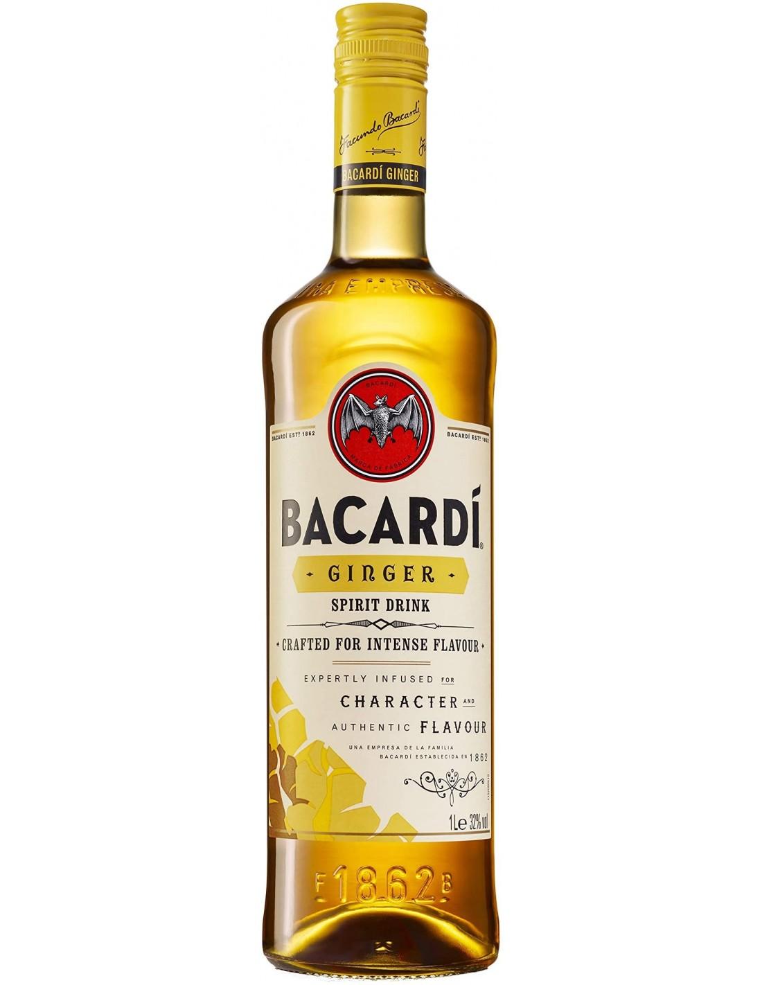 Rom Bacardi Ginger, 0.7L, 32% alc., Cuba