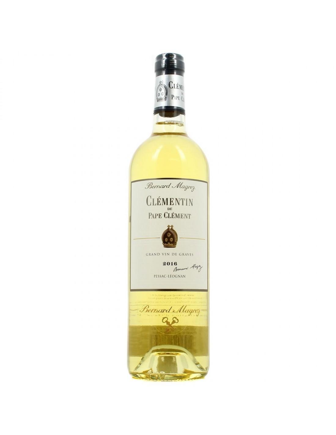 Vin alb, Clementin de Pape Clement Pessac-Leognan, 0.75L, 14% alc., Franta