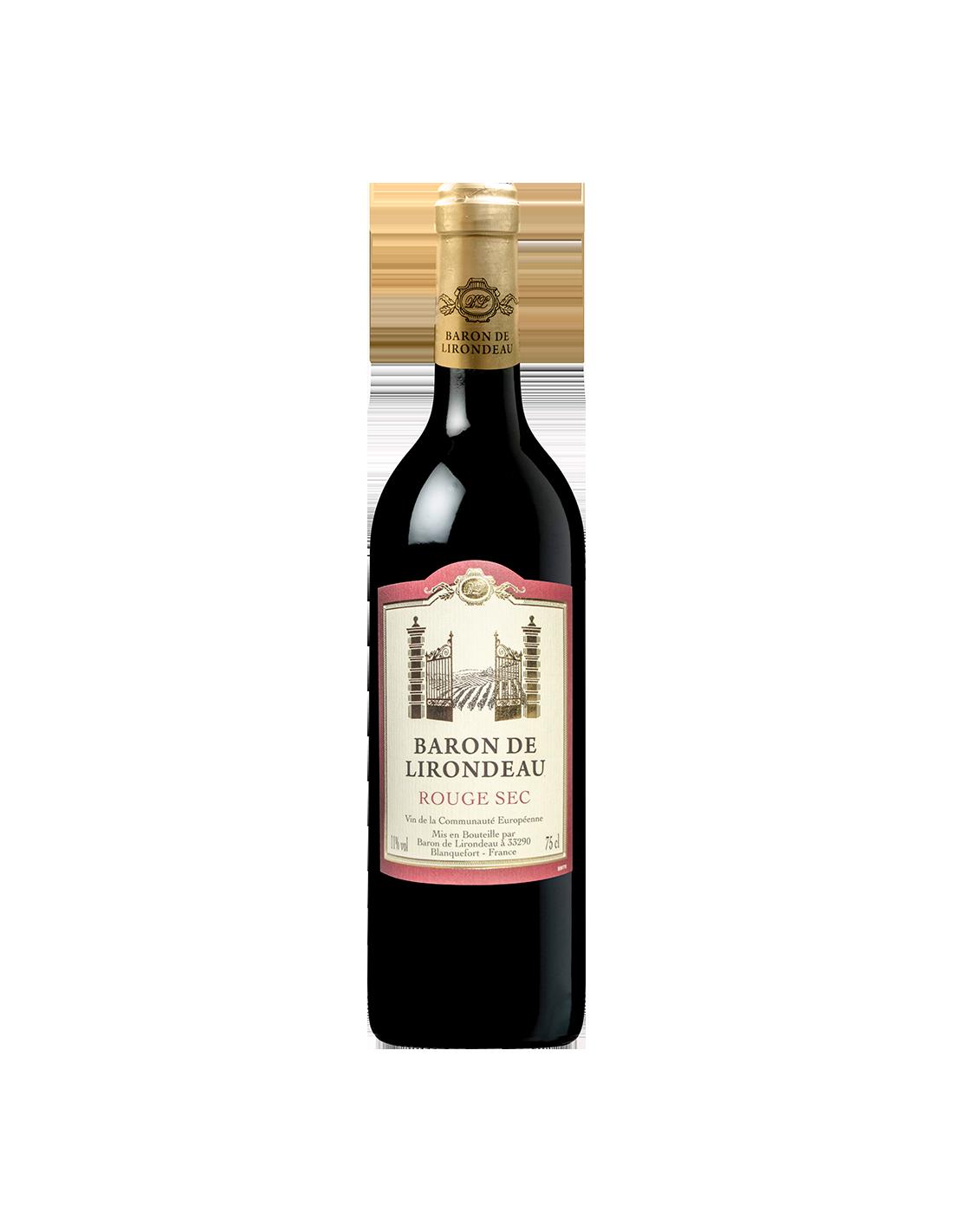 Vin rosu sec, Cupaj, Baron de Lirondeau, 0.75L, 11% alc., Franta