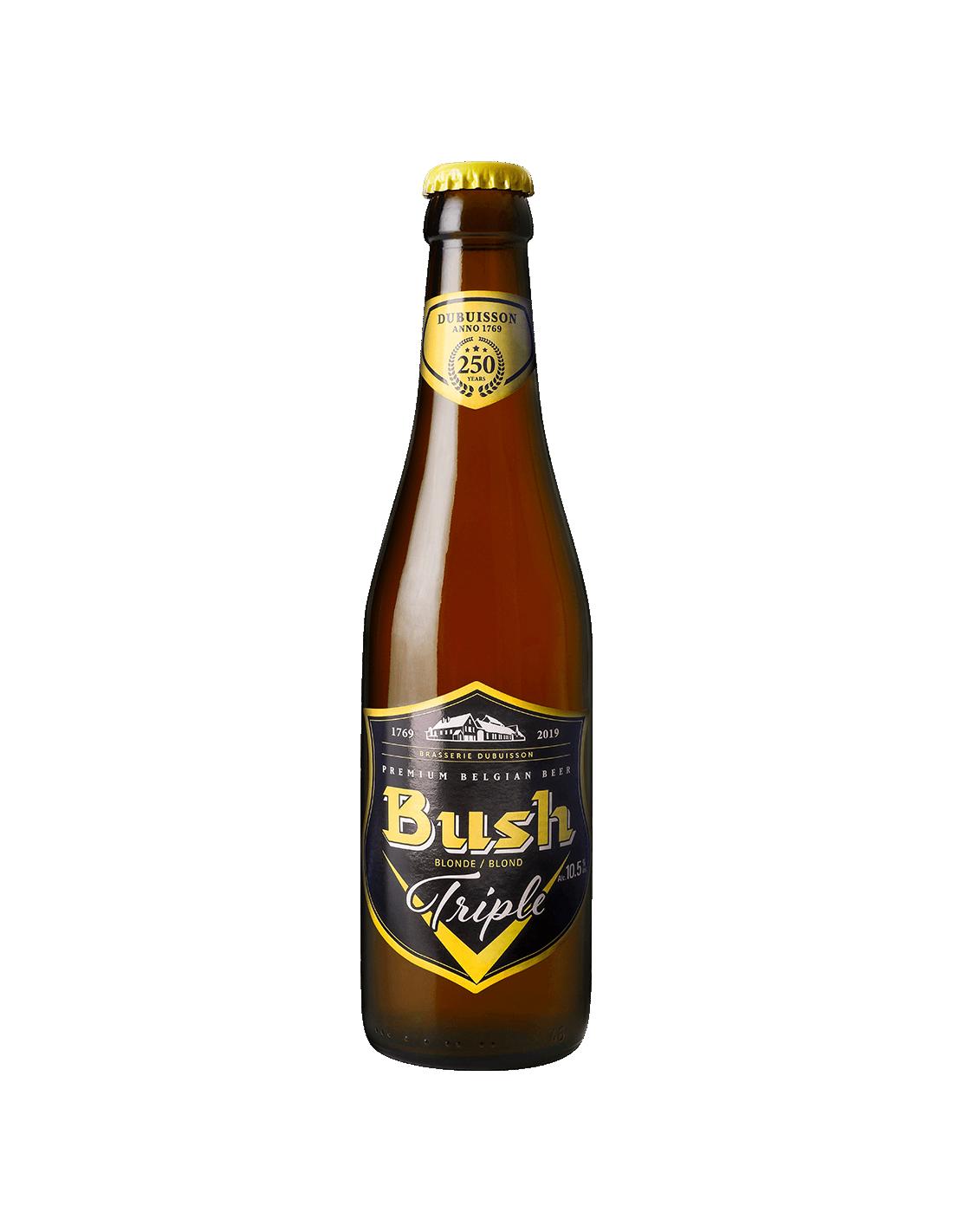 Bere blonda, filtrata Bush, 10.5% alc., 0.33L, Belgia