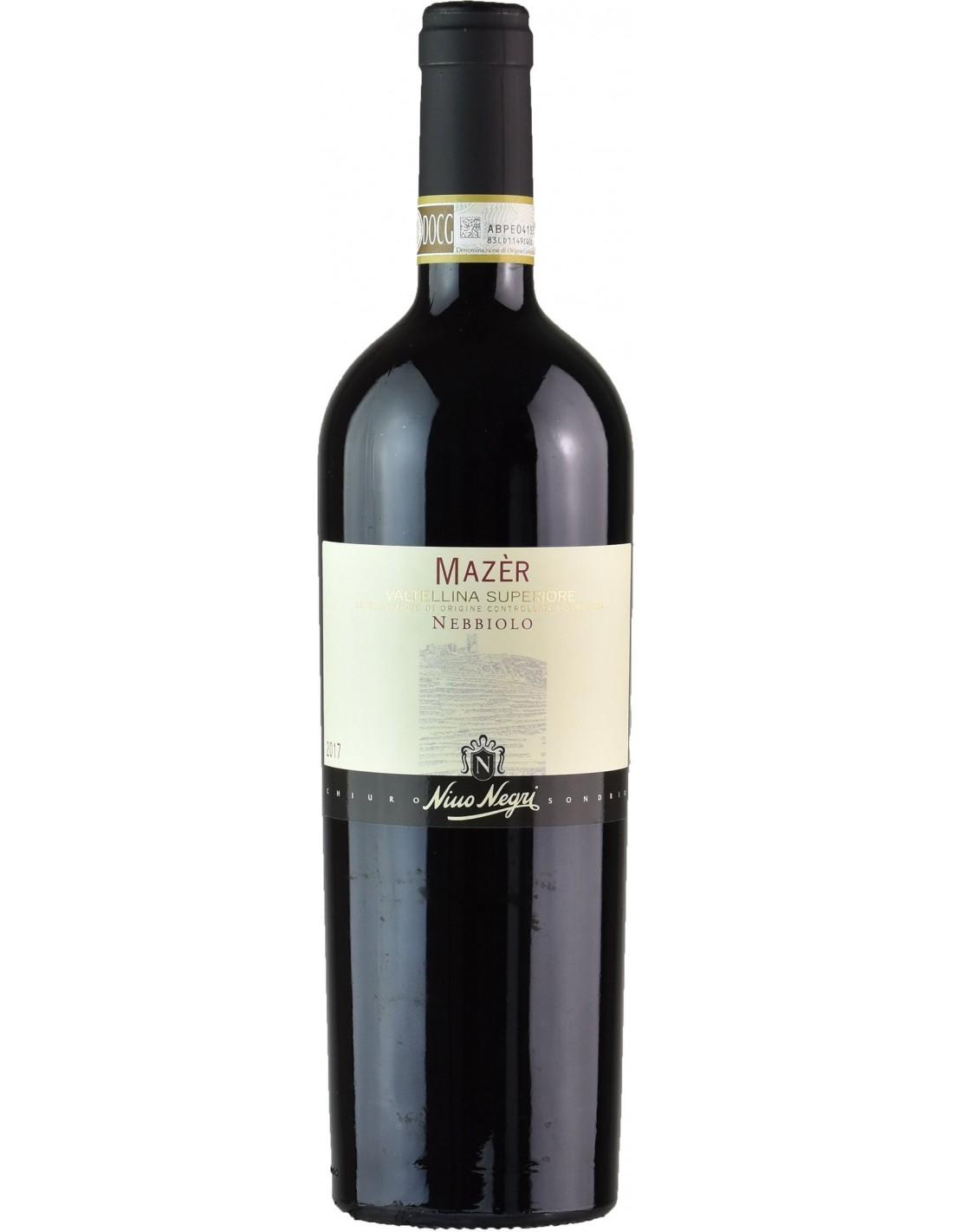 Vin rosu, Nebbiolo, Nino Negri Mazer Valtellina Superiore, 13.5% alc., 0.75L, Italia