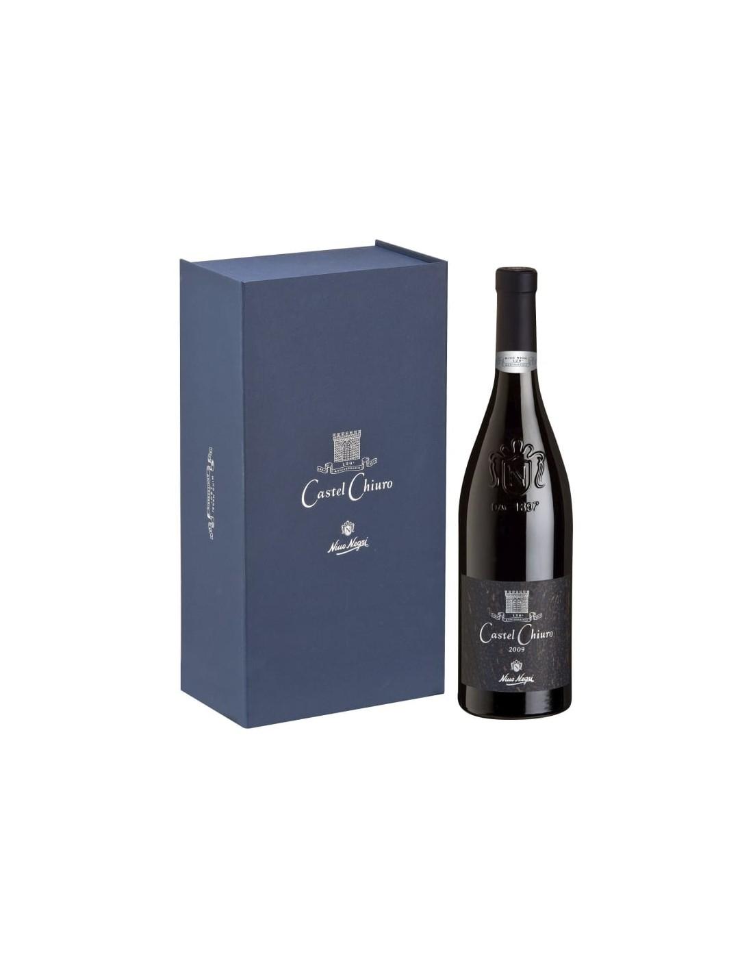 Vin rosu, Nino Negri Castel Chiuro + cutie, 13.5% alc., 0.75L, Italia