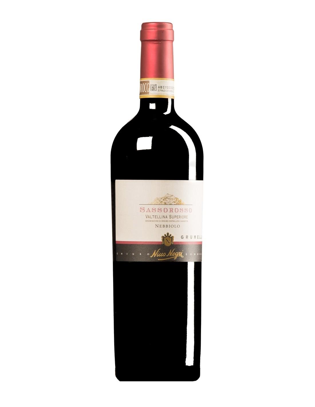 Vin rosu, Nebbiolo, Nino Negri Sassorosso Grumello Valtellina Superiore, 13.5% alc., 0.75L, Italia