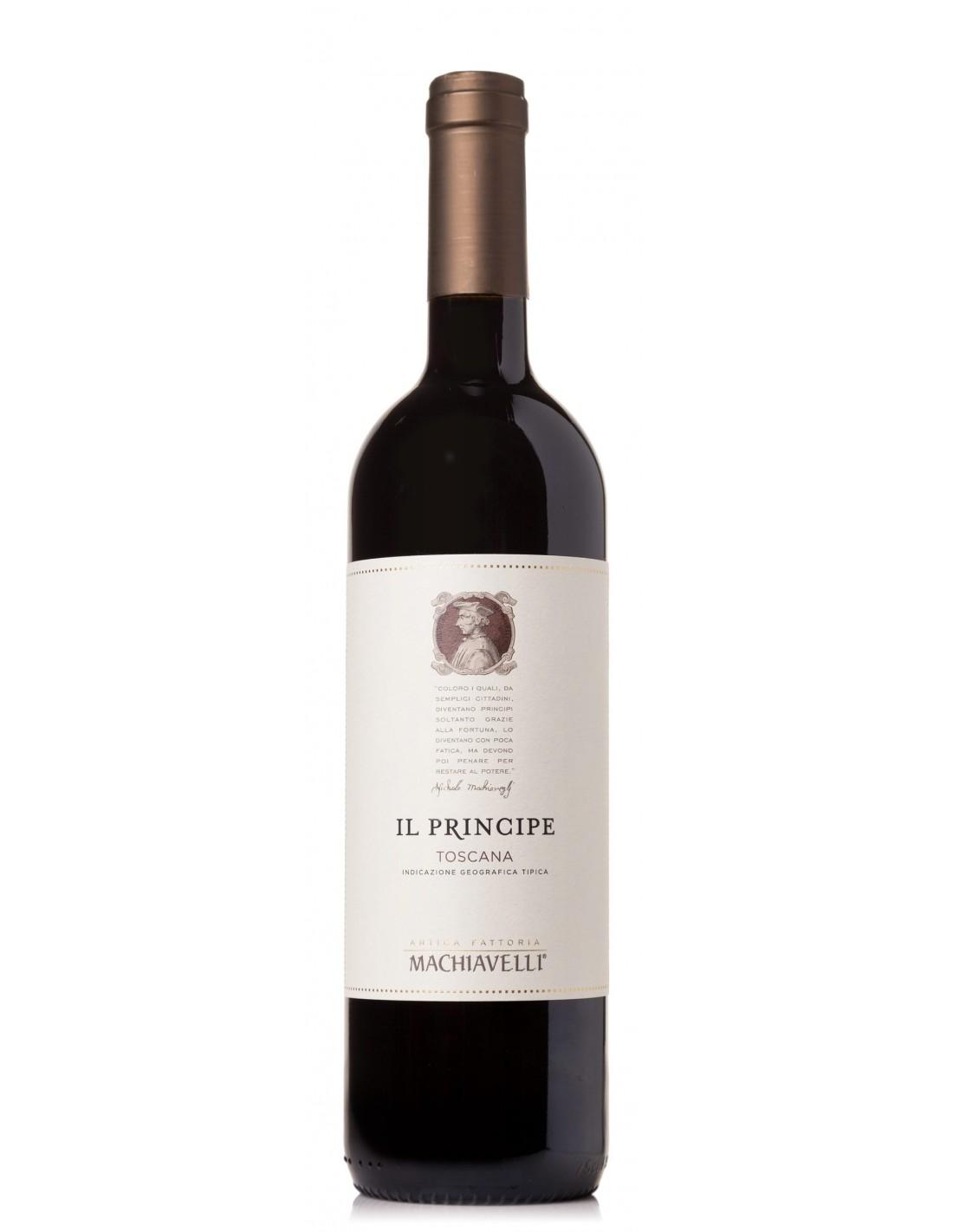 Vin rosu, Machiavelli IL Principe Toscana, 15% alc., 0.75L, Italia