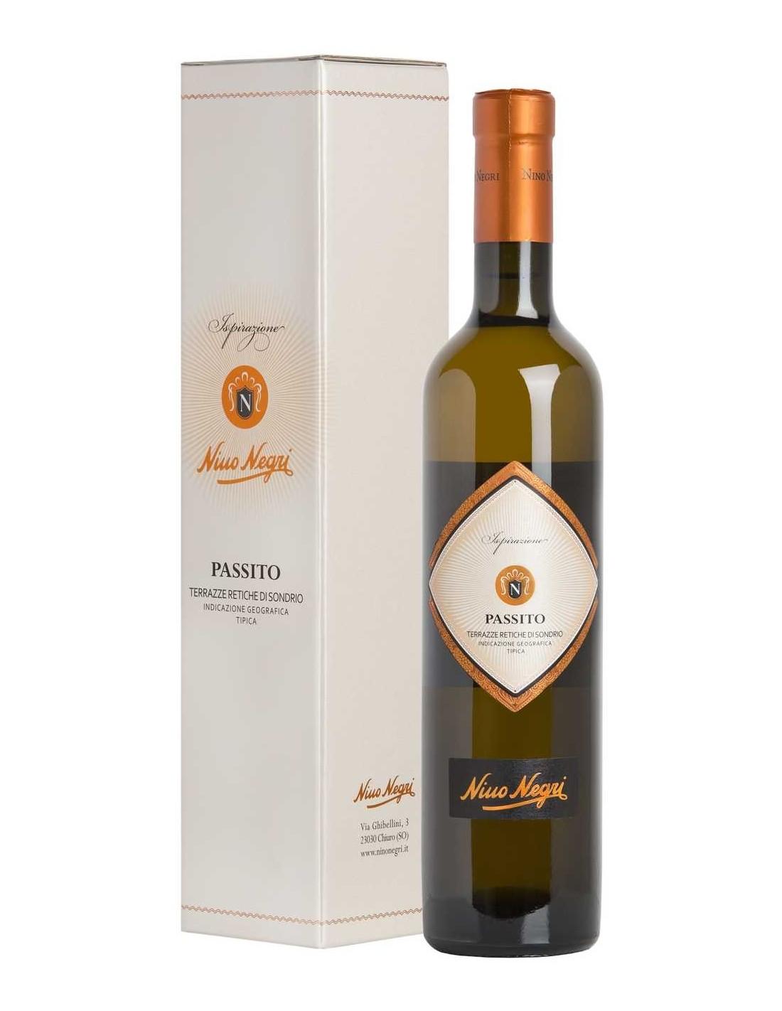 Vin alb, Nino Negri Passito Alpi Retiche, 12.5% alc., 0.5L, Italia
